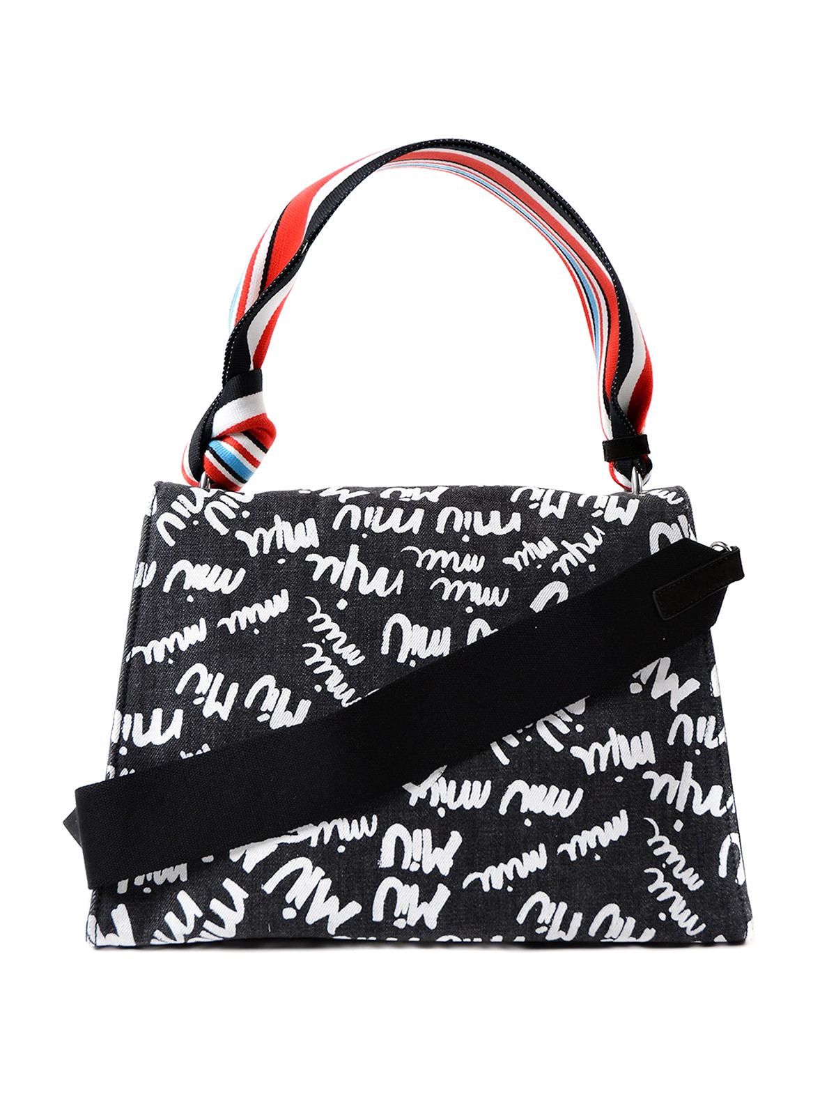 ec00c5bf0eba Miu Miu - Logo print denim bag - shoulder bags - 5BA063VOOO2BS1 P51