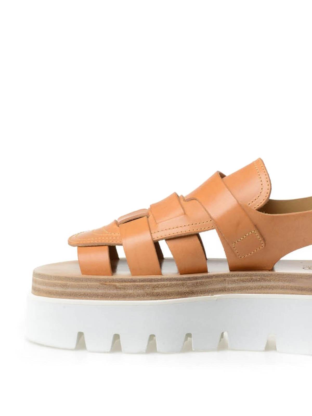 eeb3aba77e5 MM6 Maison Margiela - Platform sandals - sandals - S59WP0011 SX9548 ...