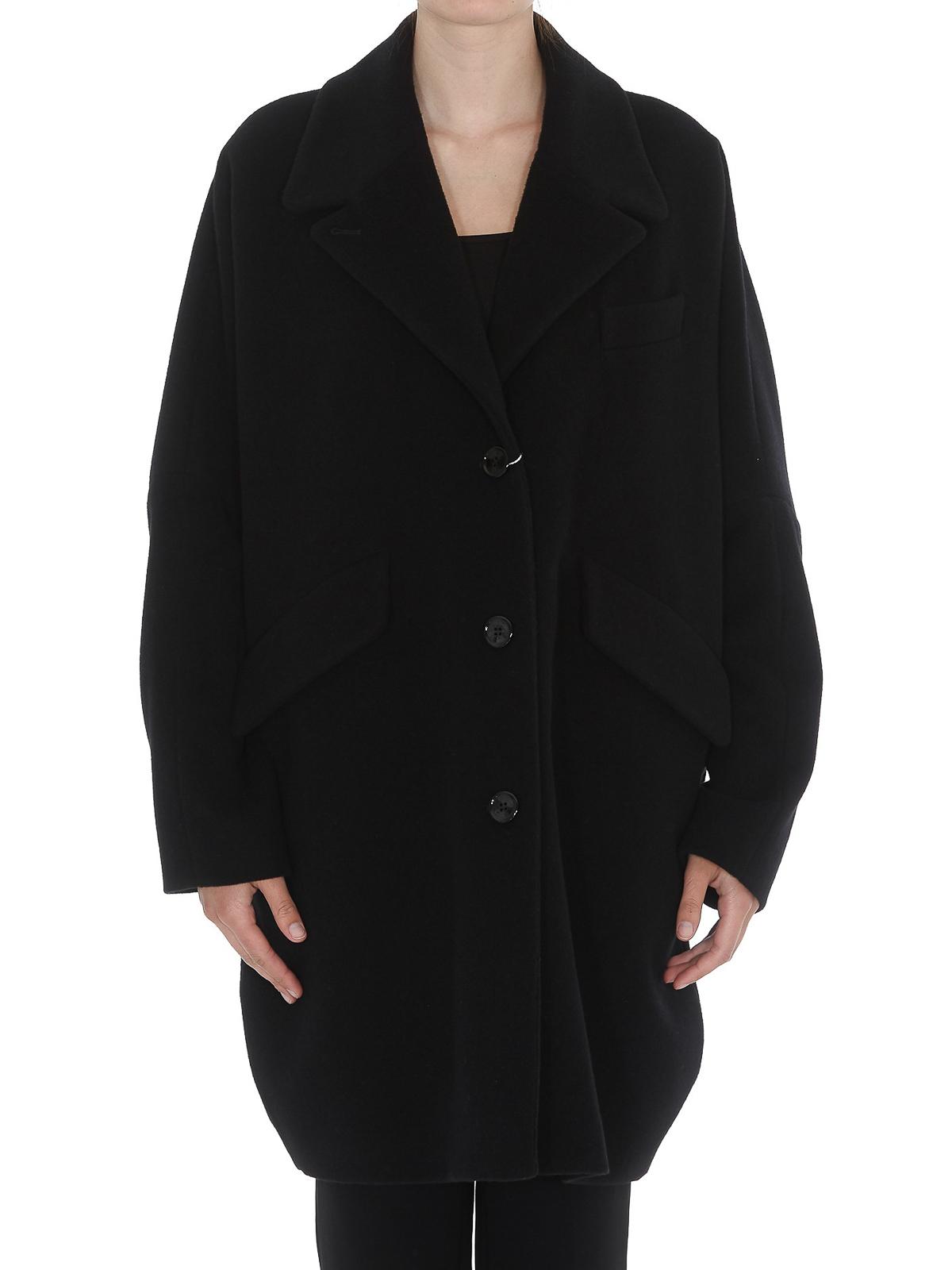 Coat Margiela Maison Blend Oversized Wool Short Mm6 rQWBeEdCxo