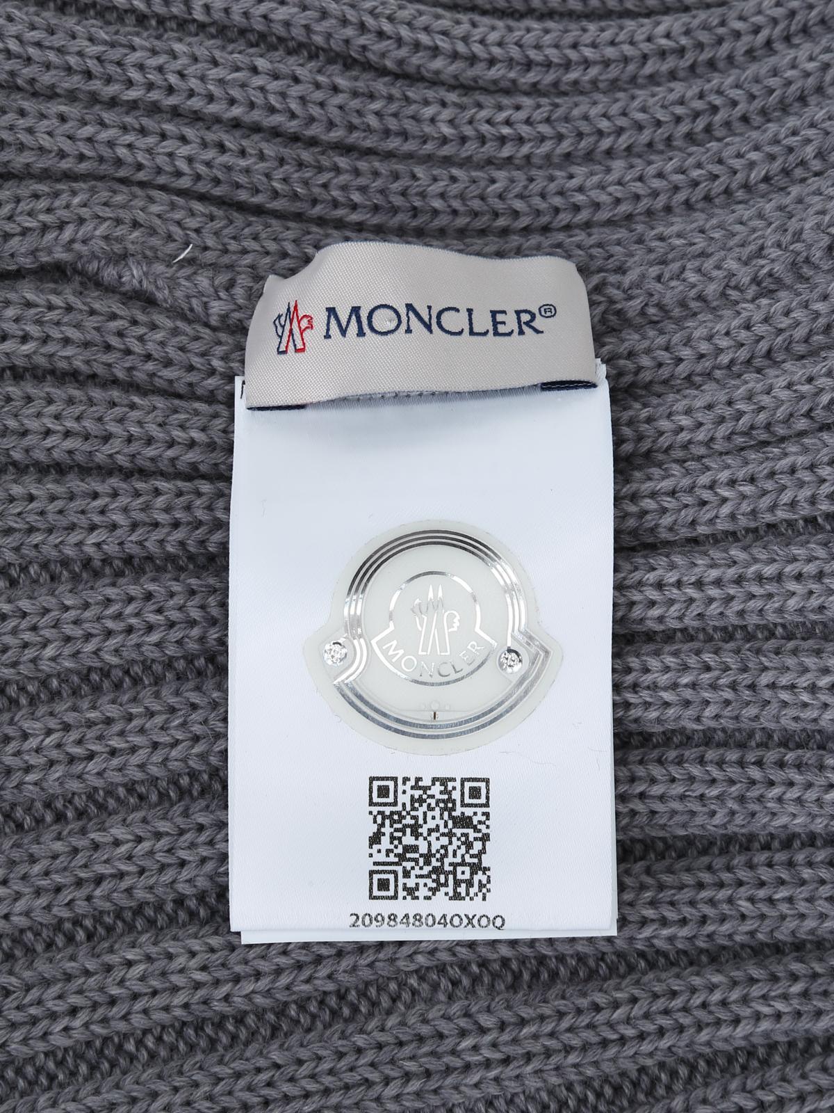d3b8b09866457 Moncler - Fur pompom grey ribbed wool beanie - beanies - D2 093 ...