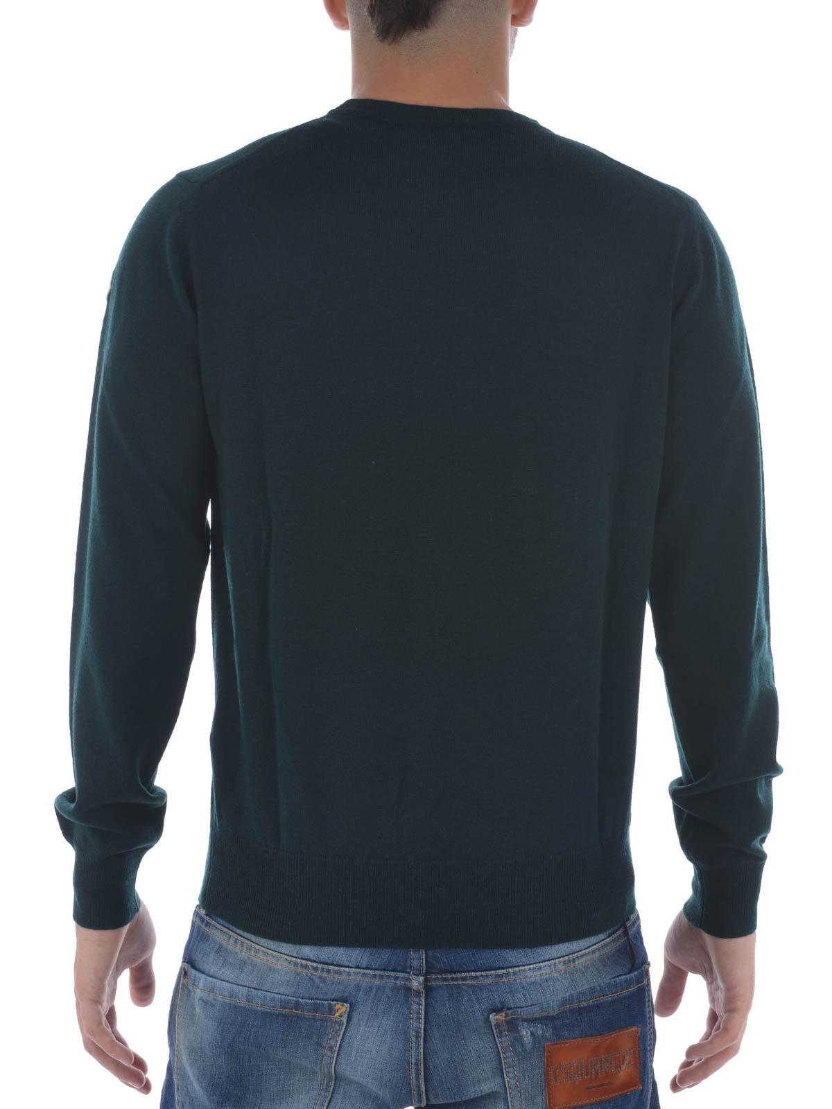 Crew Wool Sweater Moncler Neck Pull Lightweight Rond Col UqEwU5a1