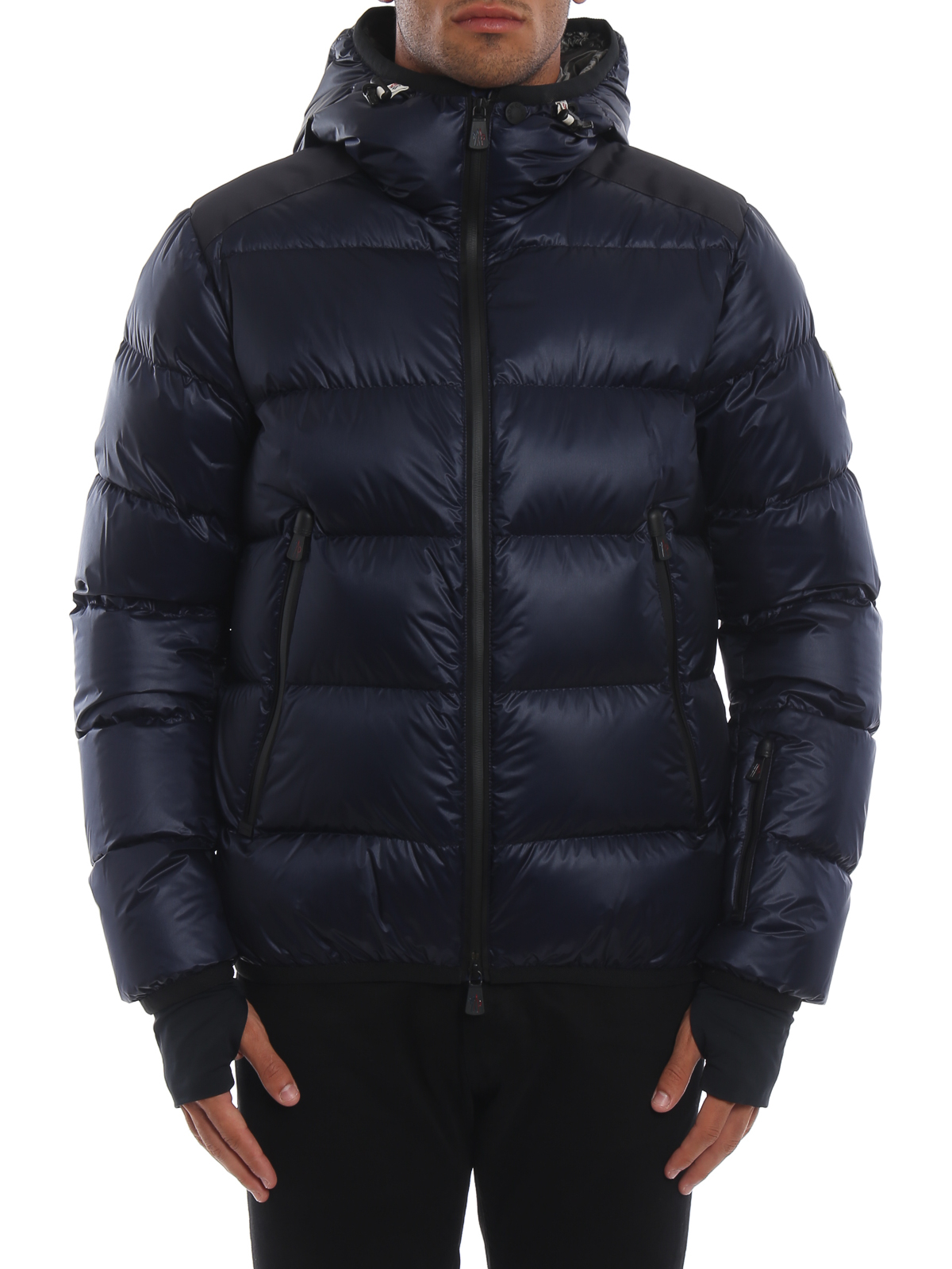 iKRIX MONCLER GRENOBLE: padded jackets - Interthux dark blue hooded puffer jacket