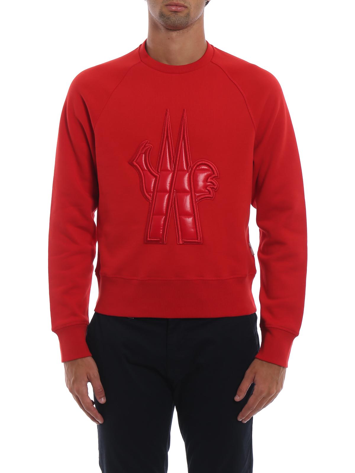 d4fce61ac Moncler Grenoble - Après-Ski bright red sweatshirt - Sweatshirts ...