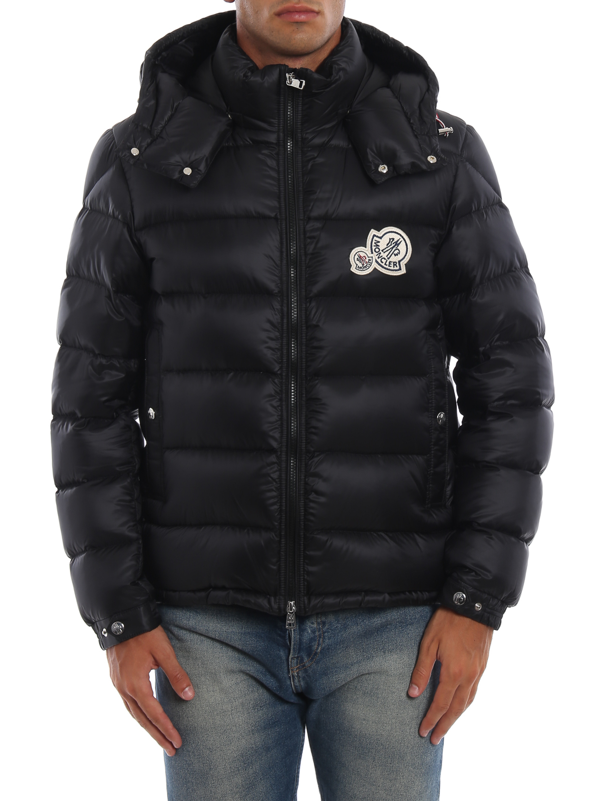 iKRIX MONCLER: padded jackets - Bramant black hooded puffer jacket