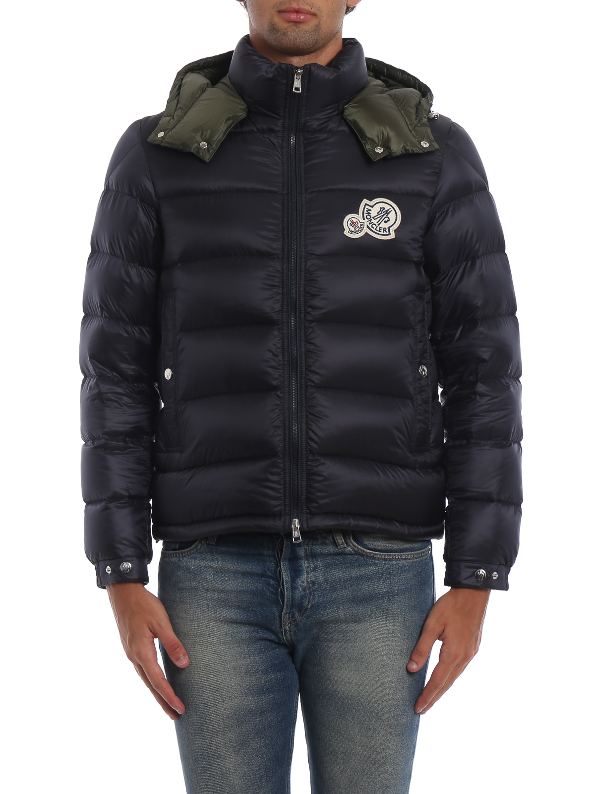 5b94f1533 Moncler - Bramant blue hooded puffer jacket - padded jackets ...