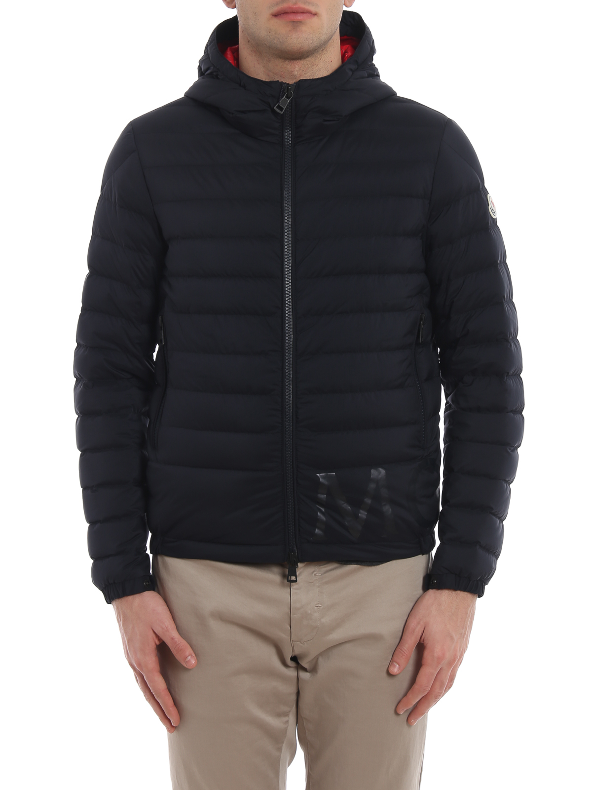 77f87412b Moncler - Dreux logo print hooded puffer jacket - padded jackets ...