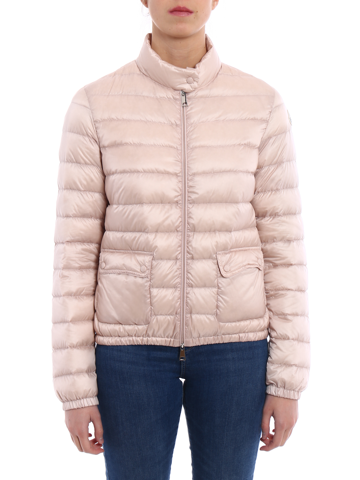 Moncler Lans light pink puffer jacket padded jackets