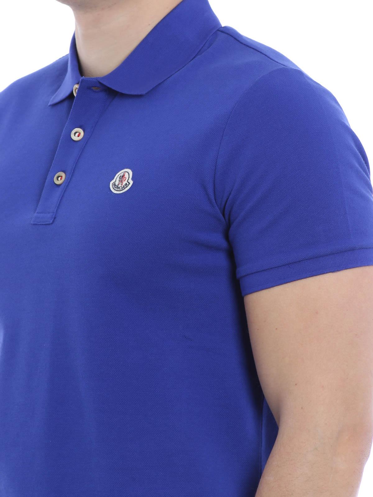 royal blue moncler polo