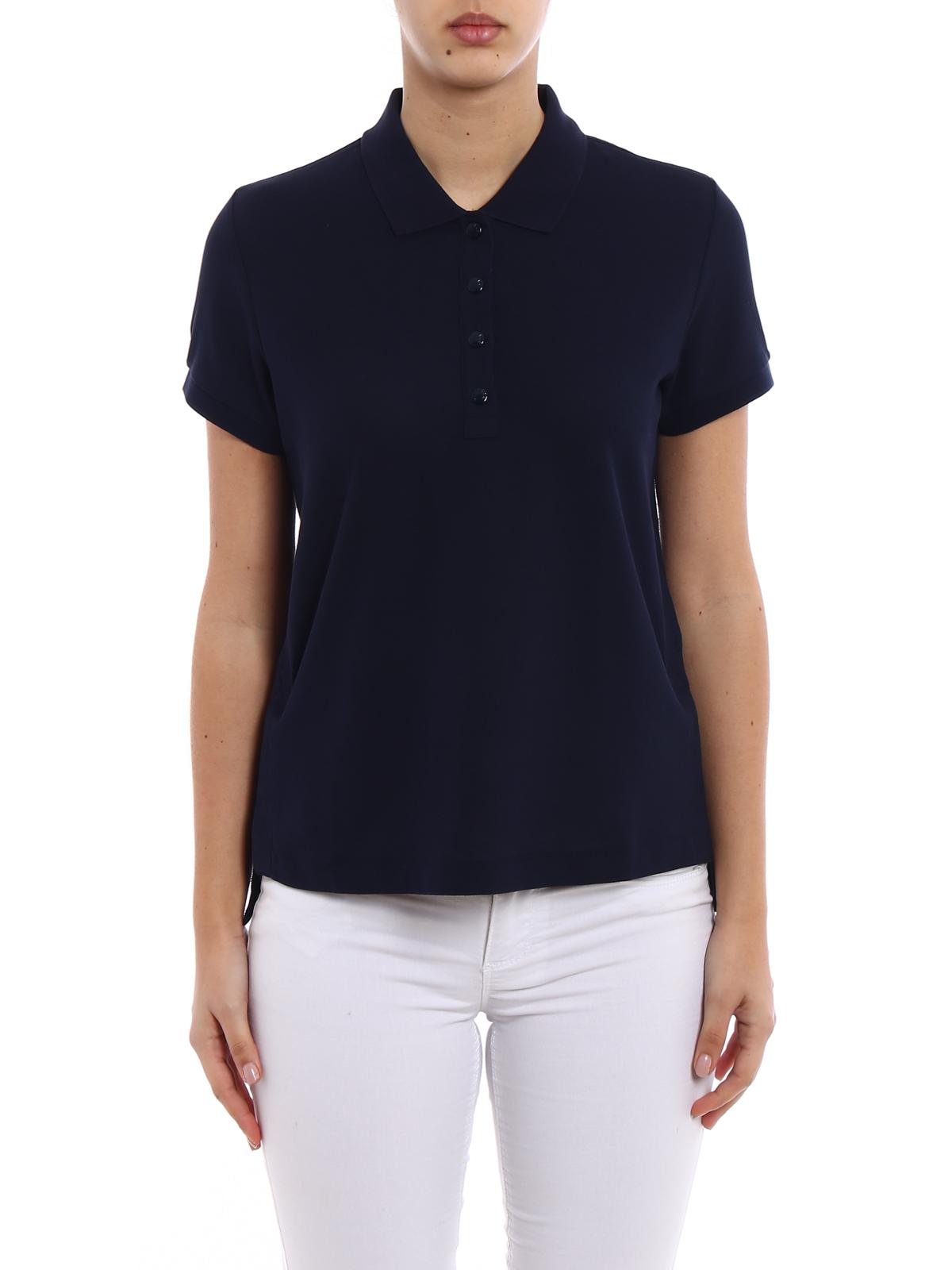 0c9f66724 Moncler - Blue navy pique polo shirt - polo shirts - 8390600 84667 778