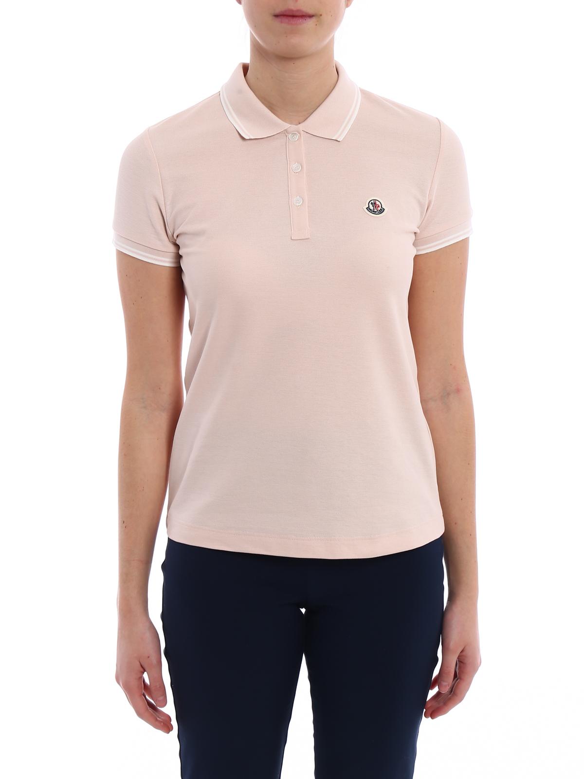 iKRIX MONCLER: polo shirts - Light pink polo shirt
