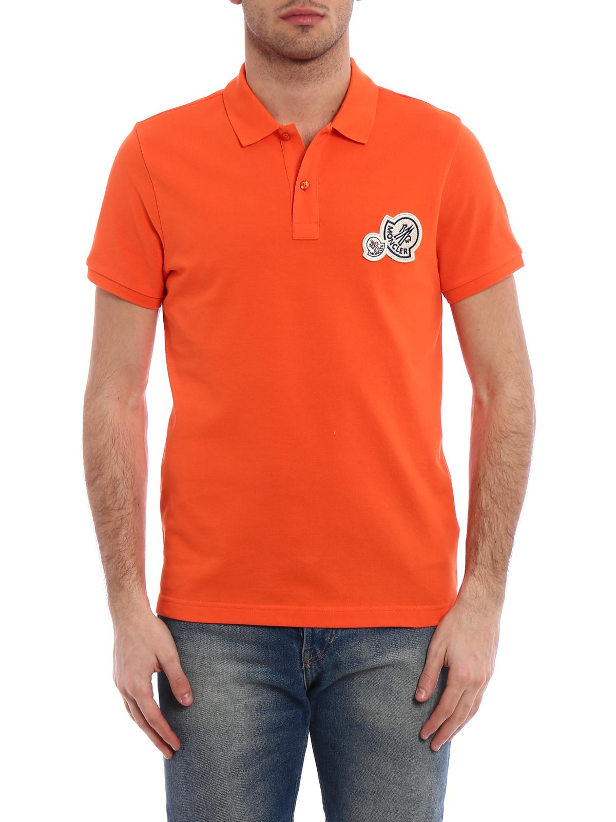 moncler orange polo