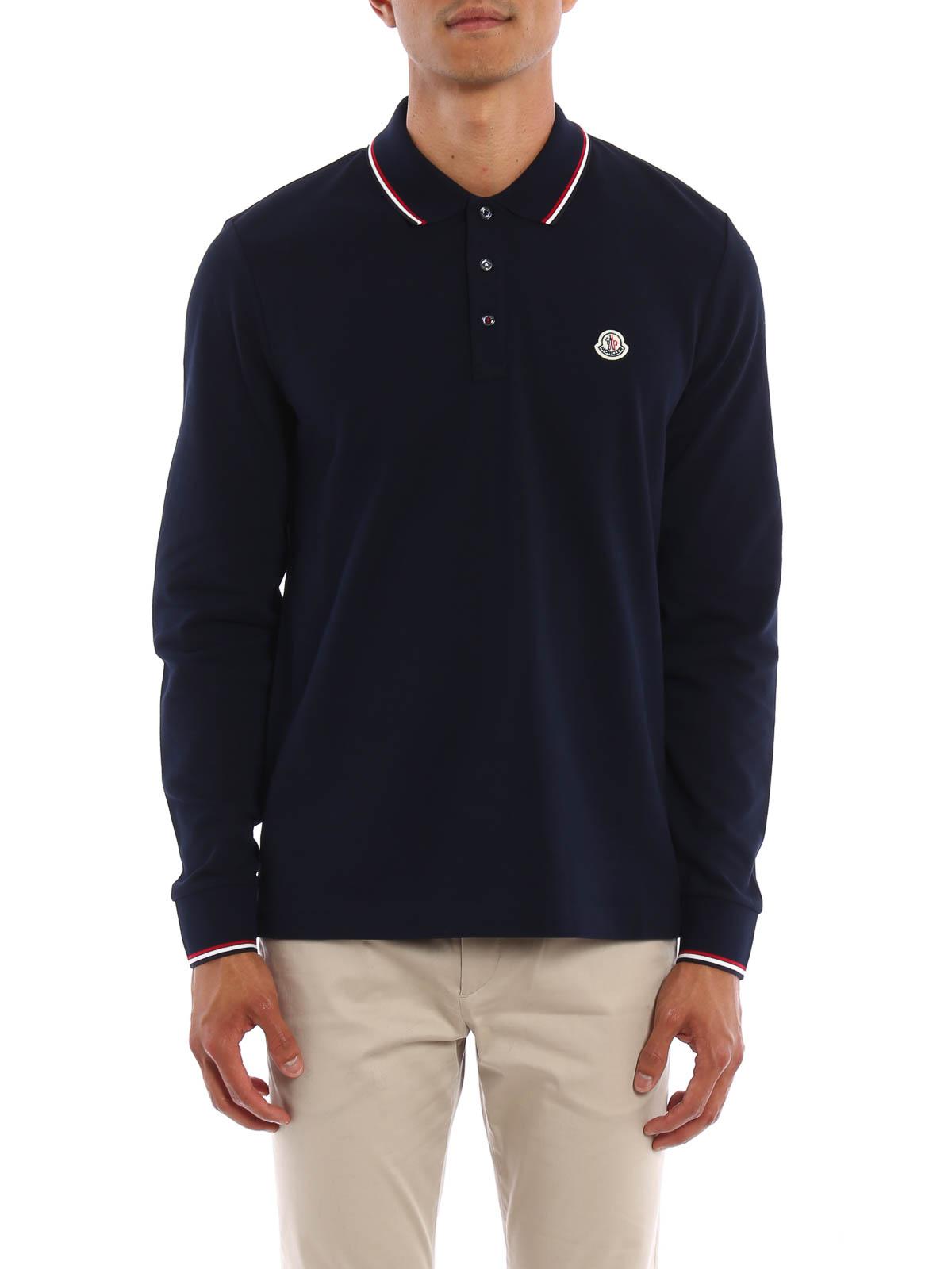 902ff396b Moncler - Long sleeved cotton polo shirt - polo shirts - B2 091 ...