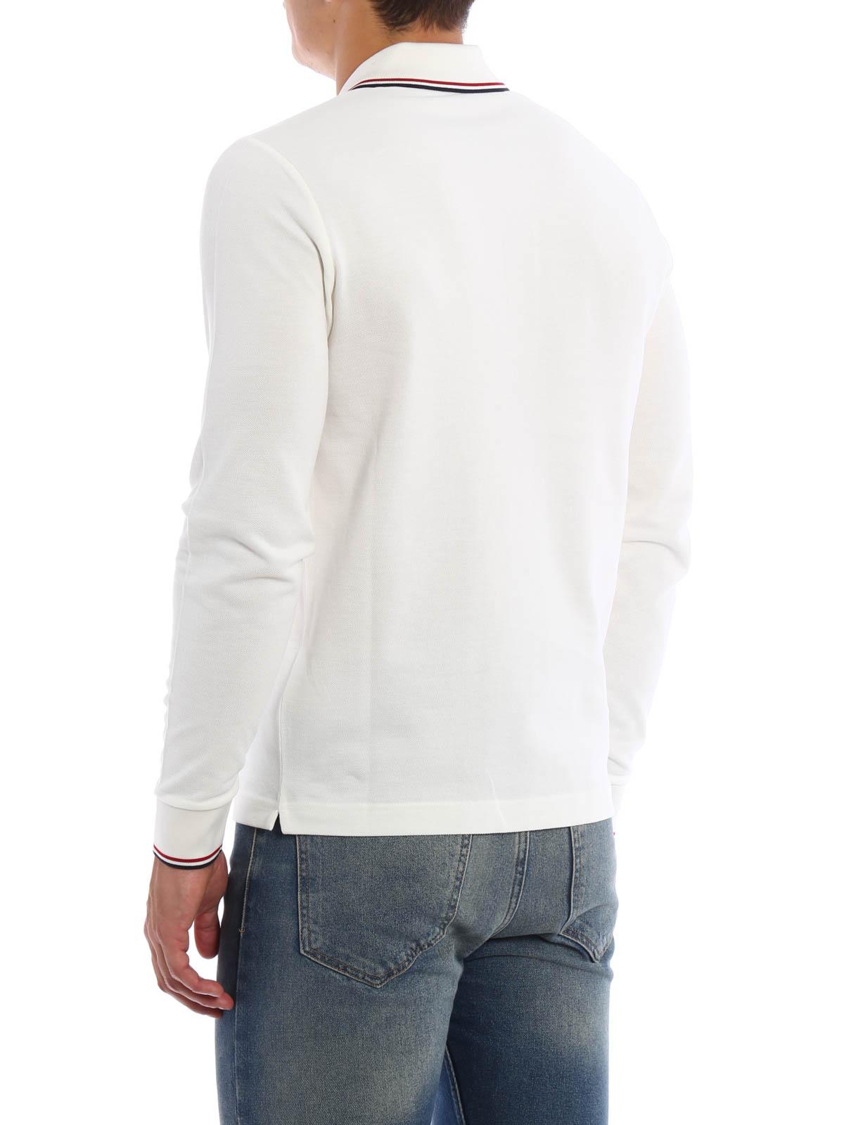 huge discount 3ec18 50bed Moncler - Poloshirt Fur Herren - Weiß - Poloshirts - B2 091 ...