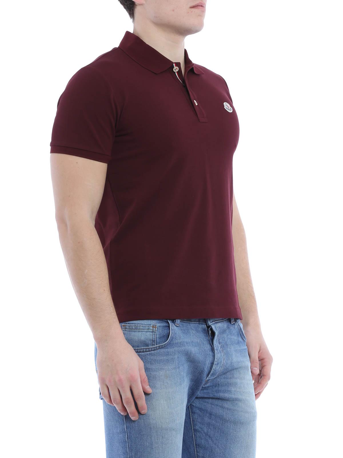 Pique cotton polo shirt by moncler polo shirts shop for Cotton on polo shirt