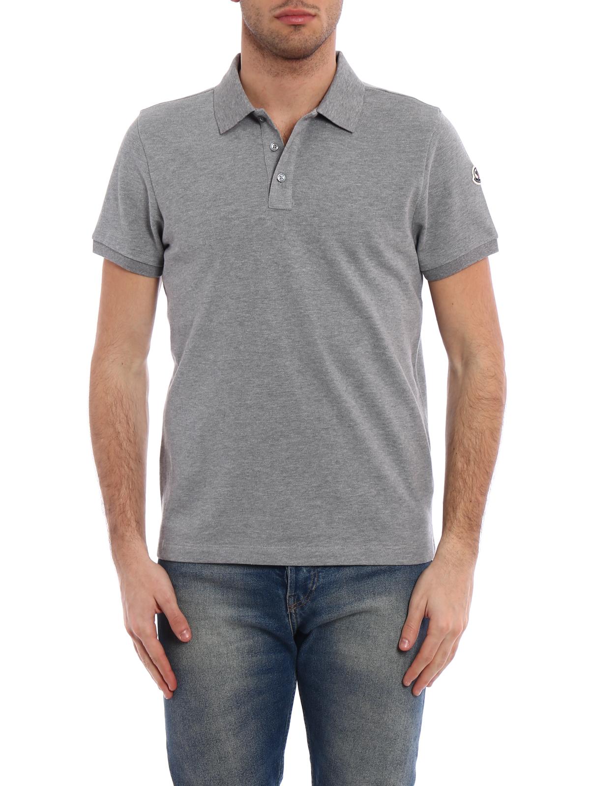 moncler grey polo shirt