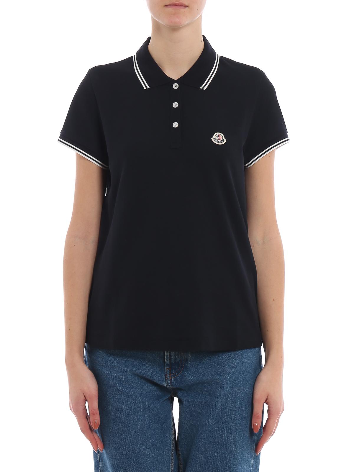 b0d73fdcafb8 Moncler - Two-tone detail polo shirt - polo shirts - 8386000 84667 778