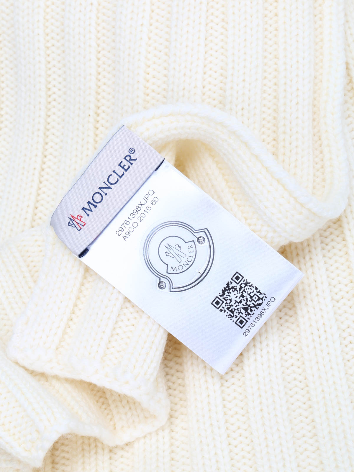 64e95d8ea6a1 Moncler - Rib knitted virgin wool scarf - scarves - B2 093 0002400 ...