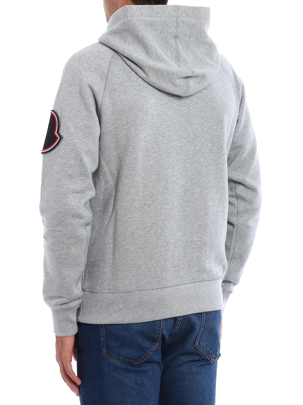 ac4dfb9d5f59 Moncler - Logo patch cotton hoodie - Sweatshirts   Sweaters - C2 091 ...