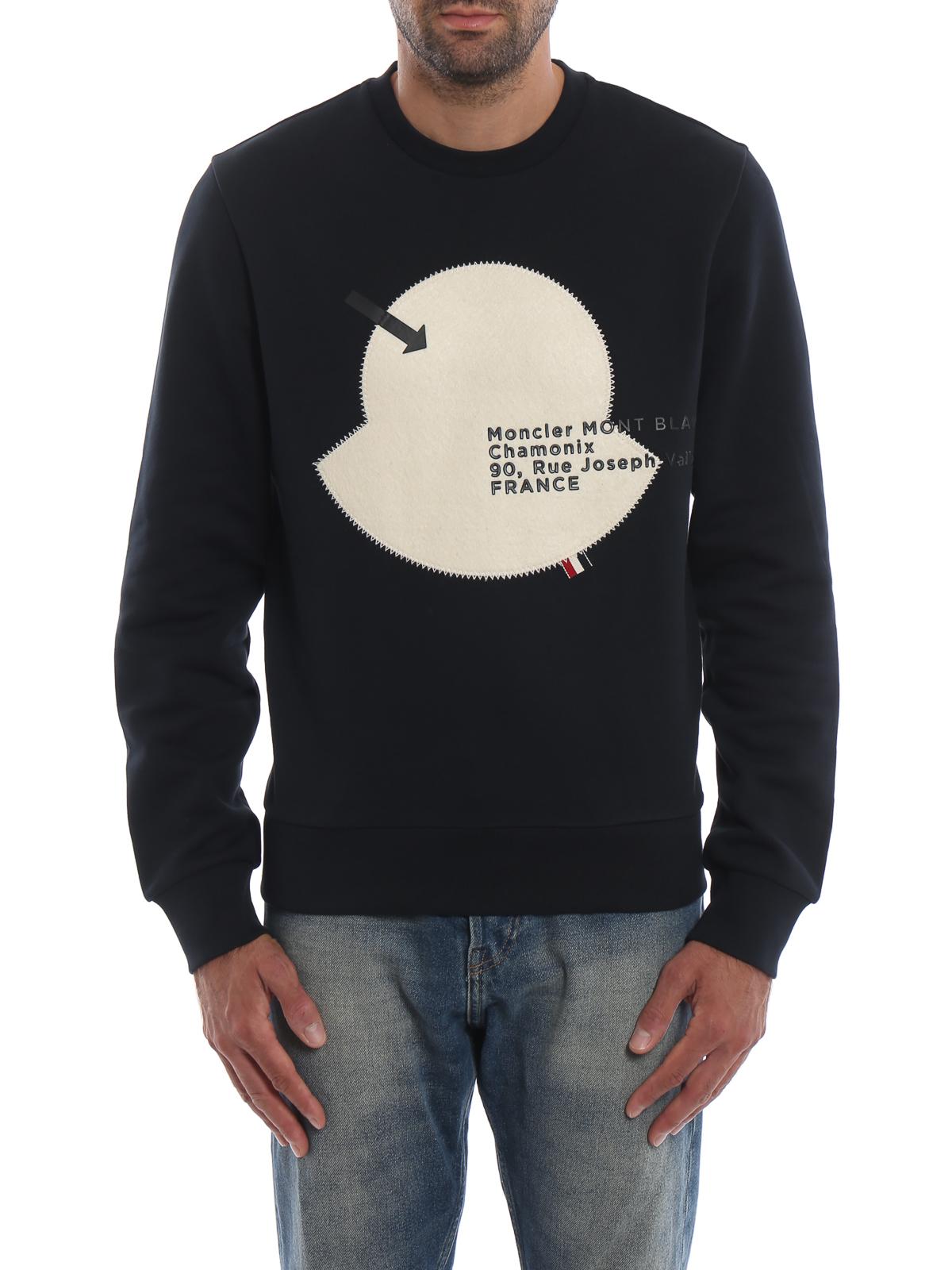 iKRIX MONCLER: Sweatshirts & Sweaters - Moncler Mont Blanc dark blue sweatshirt