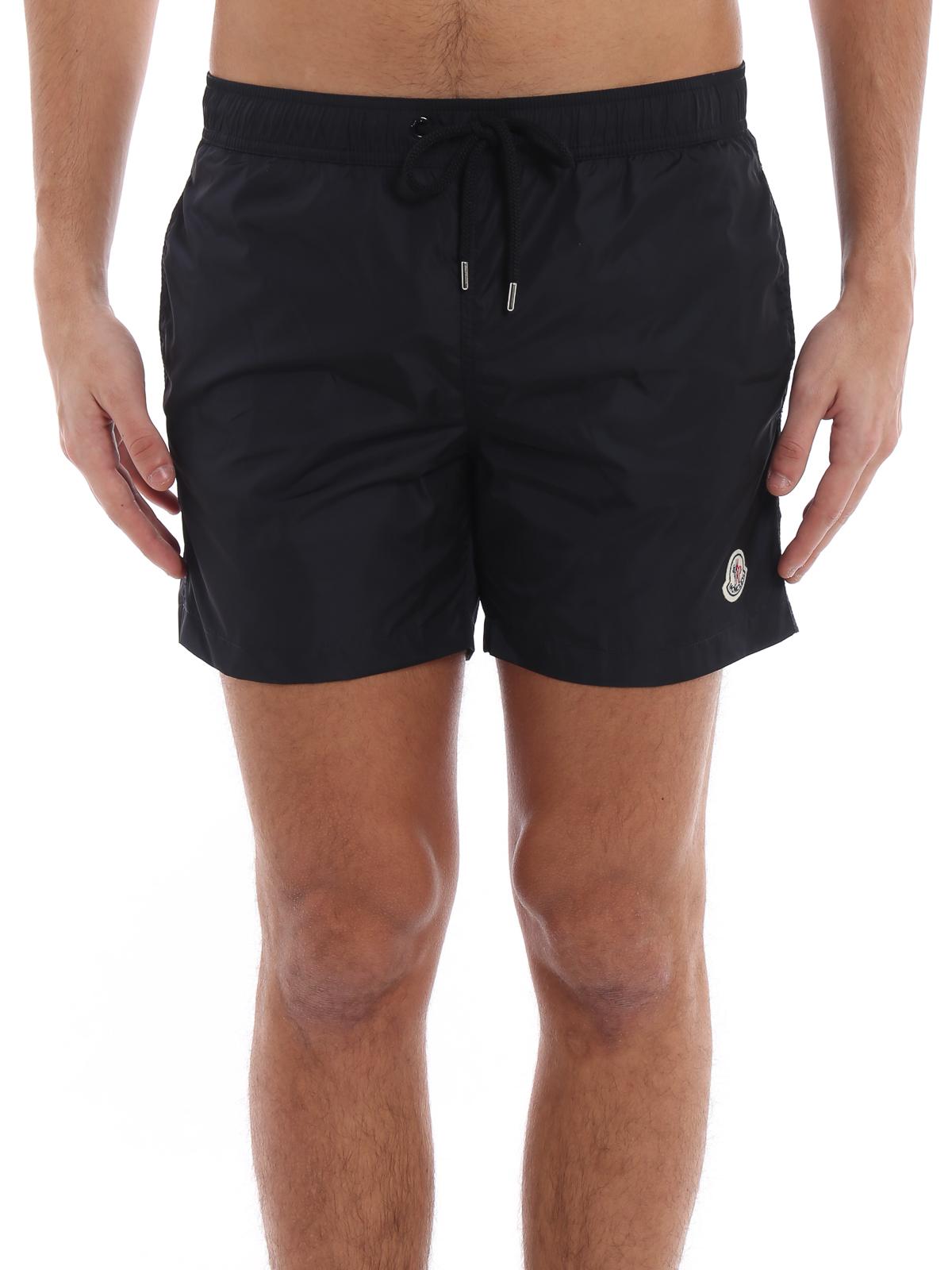 bf87bddd7ba6e iKRIX MONCLER: Swim shorts & swimming trunks - Black nylon swim shorts