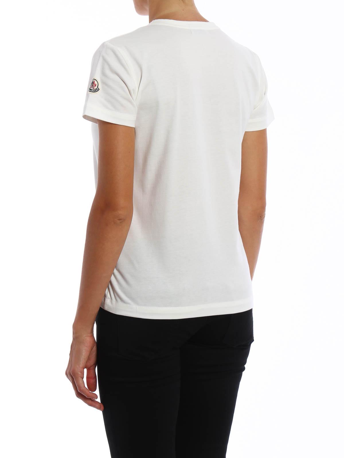 sports shoes 4d7c0 18580 Moncler - T-Shirt Fur Damen - Weiß - T-shirts - B2 096 ...