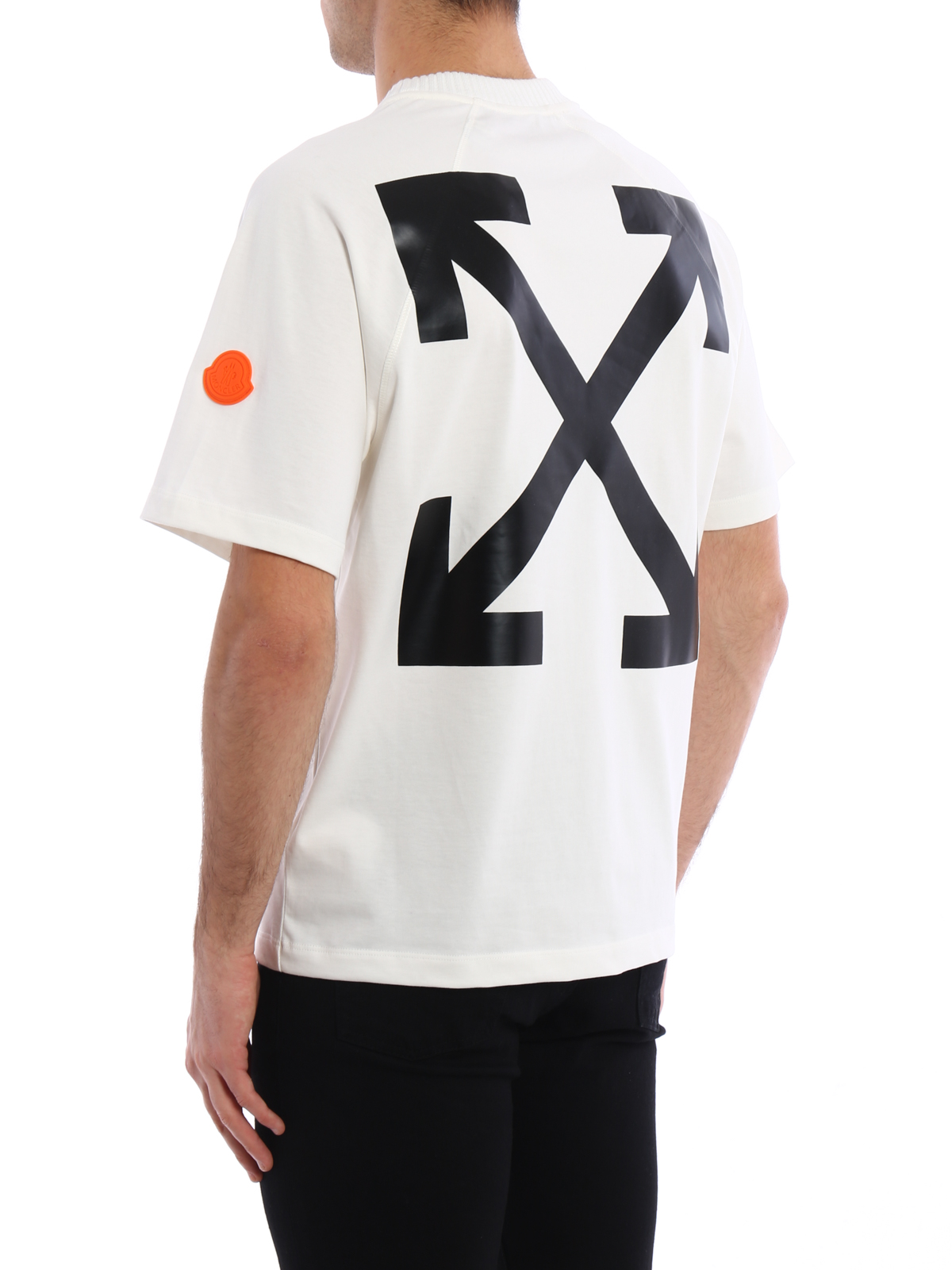 Moncler Off White Short Sleeve Tee T Shirts C1 09H