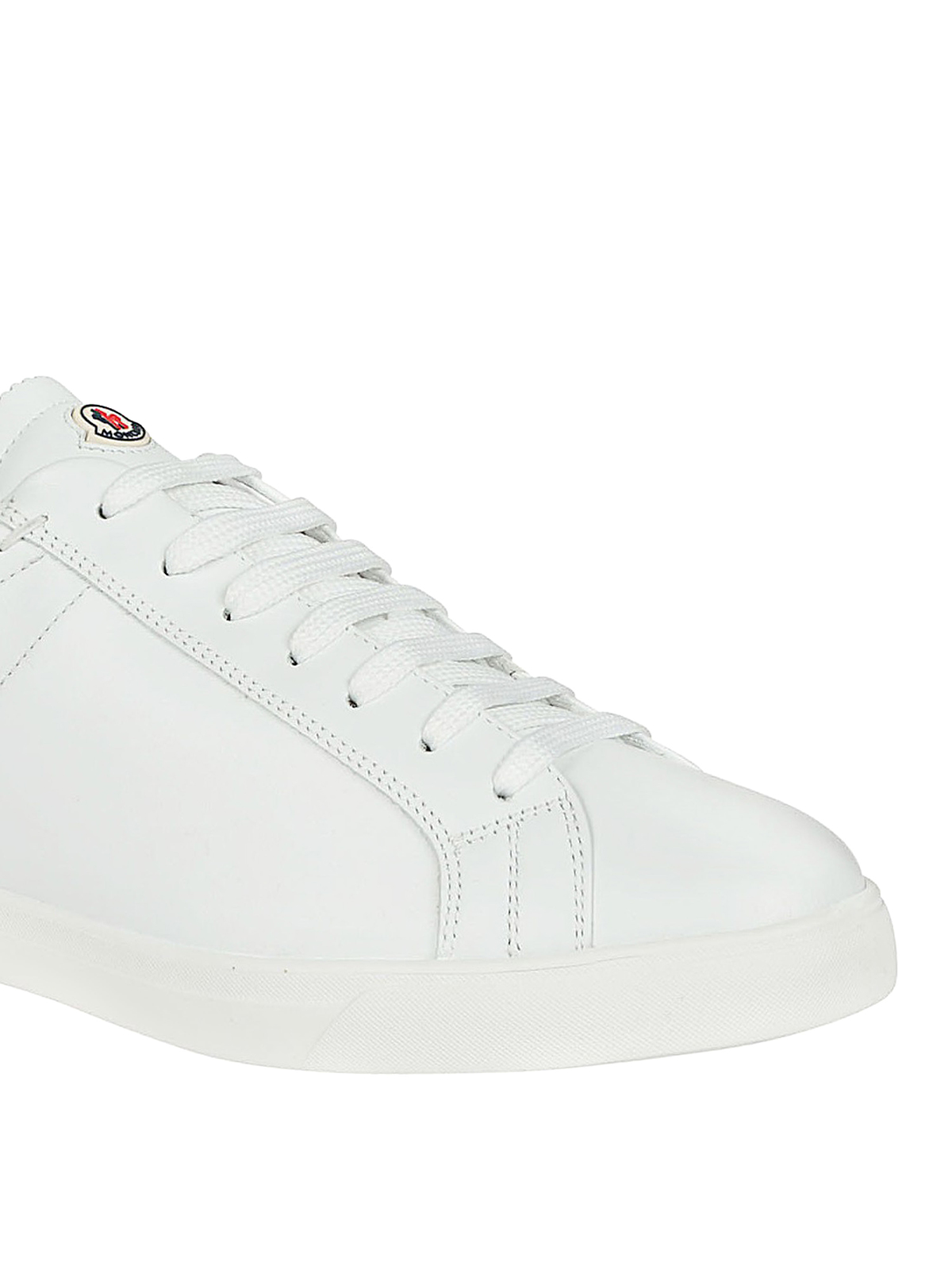 6634c316a Moncler - White leather sneakers - trainers - 1017400019MT001 ...