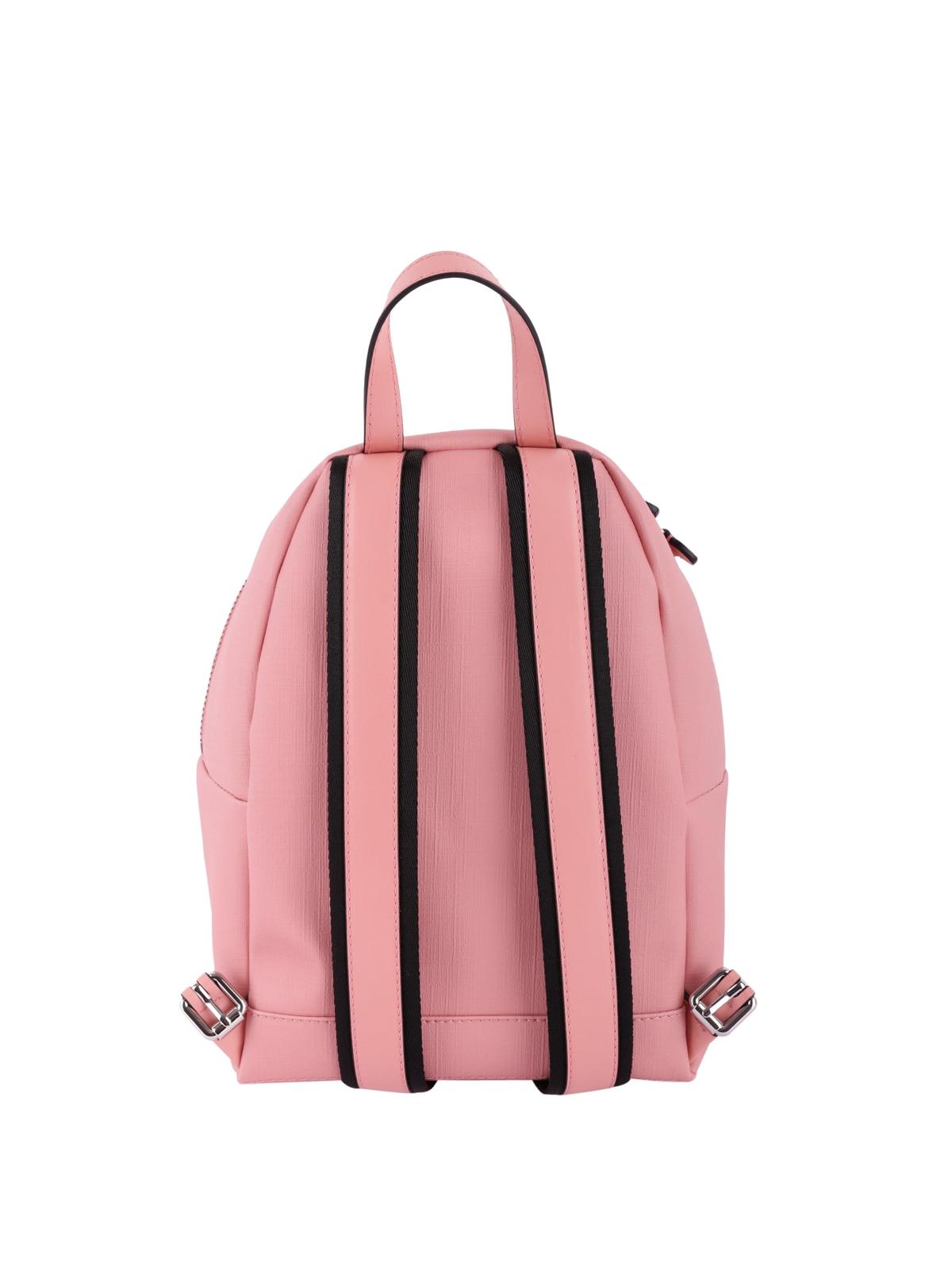 b1b355eda8810 iKRIX MOSCHINO  backpacks - Teddy print pink faux leather small backpack