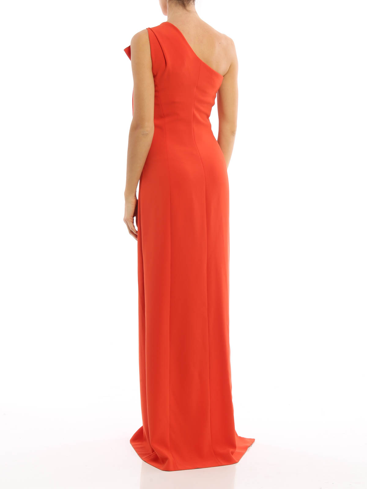 Moschino Boutique Vestido De Noche Naranja Vestidos De
