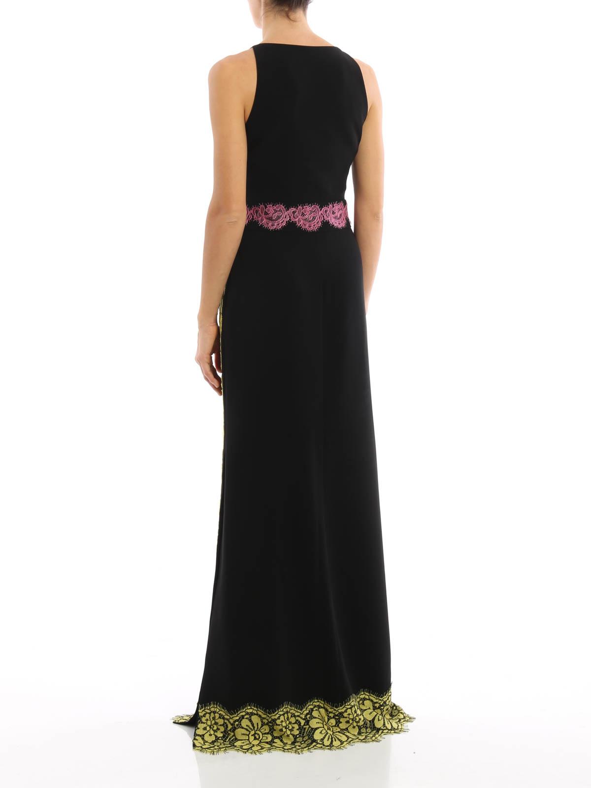 Moschino Boutique Vestido De Noche Negro Vestidos De