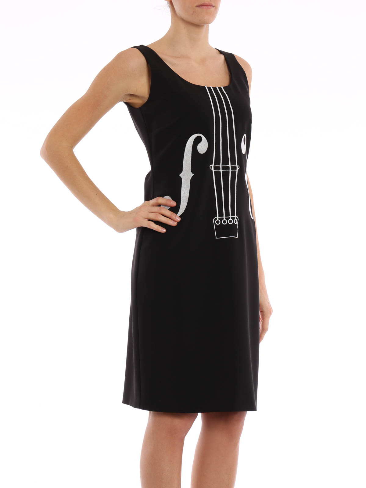 iKRIX Moschino Boutique  knee length dresses - Violin embroidery sheath  dress c5d4965d85d1