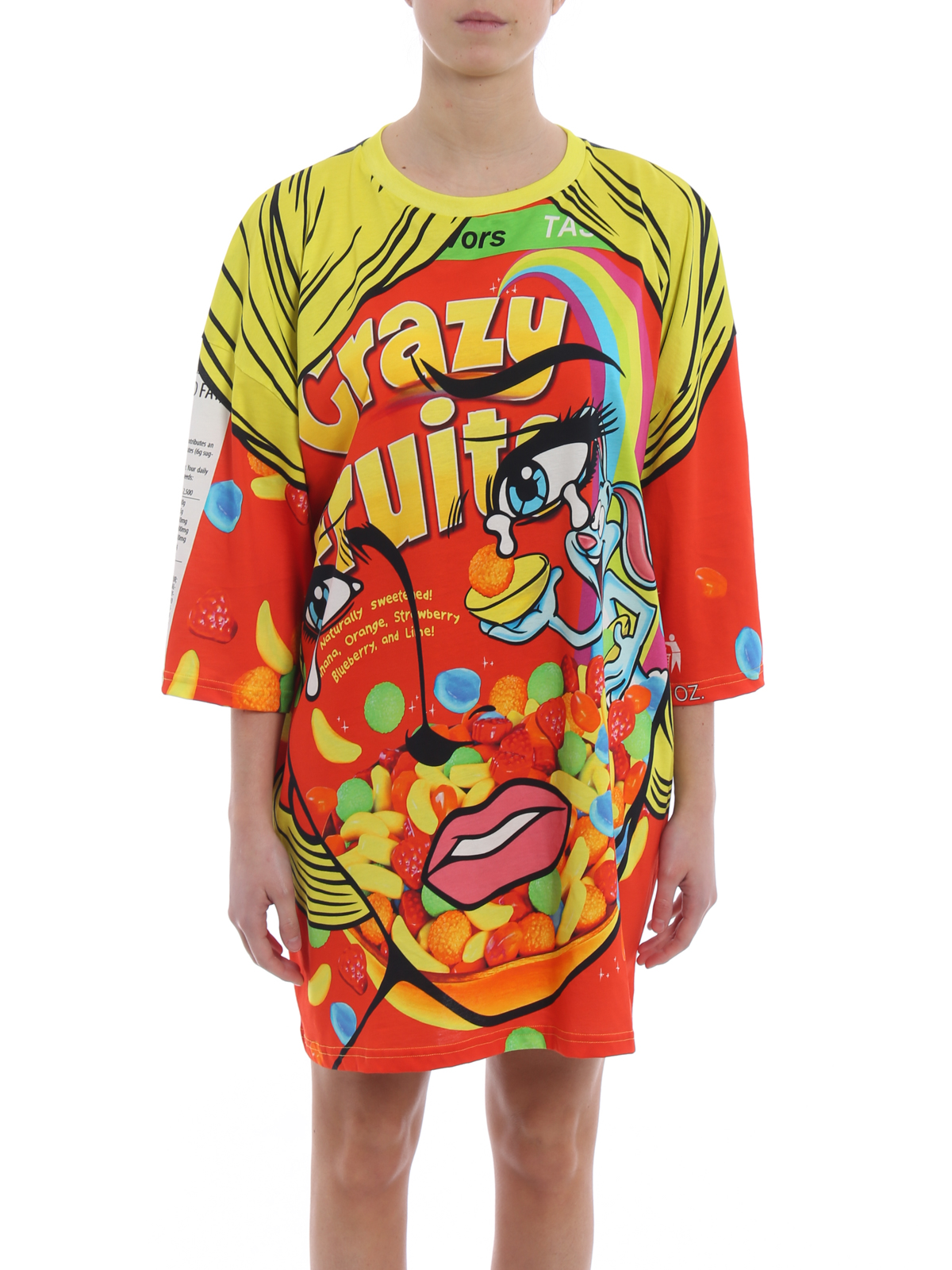 Crazy Fruit T-shirt dress - Multicolour Moschino ksHm1mjX