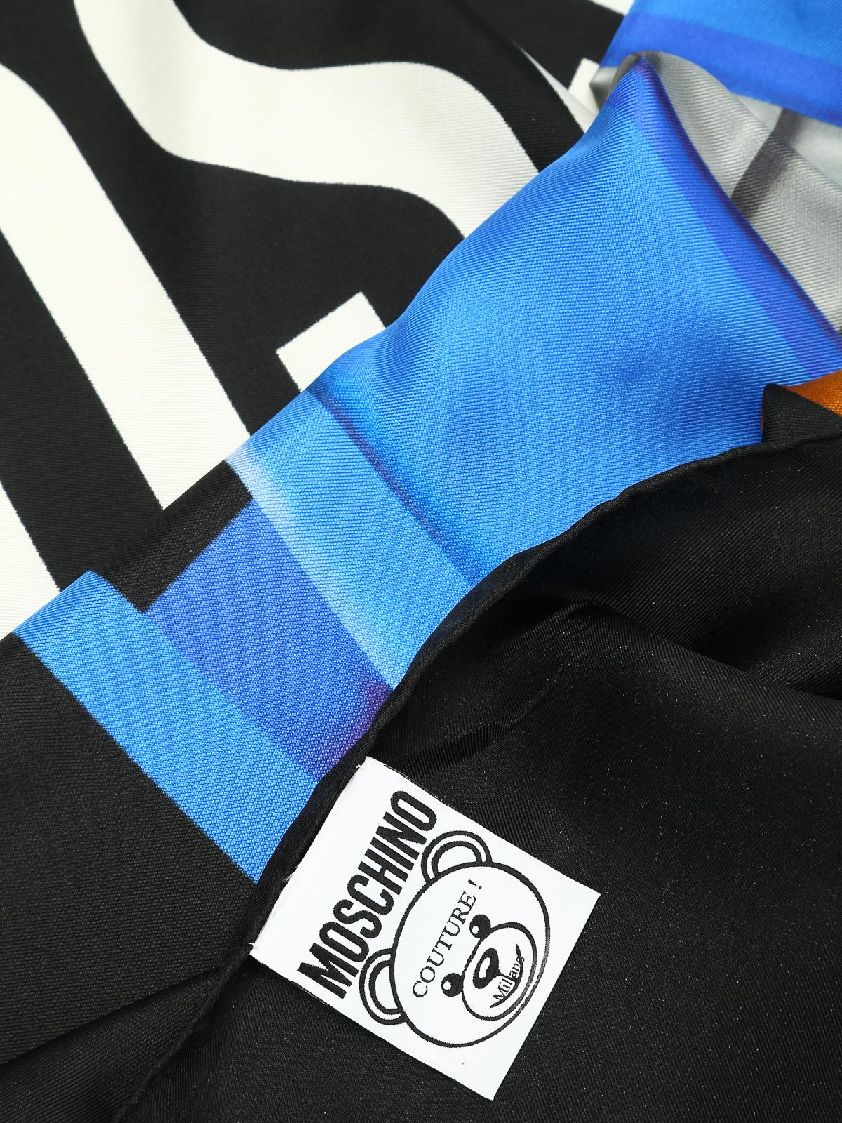 più recente 4e0f8 85202 Moschino - Scialle nero stampa Transformers - Stole & Scialli ...