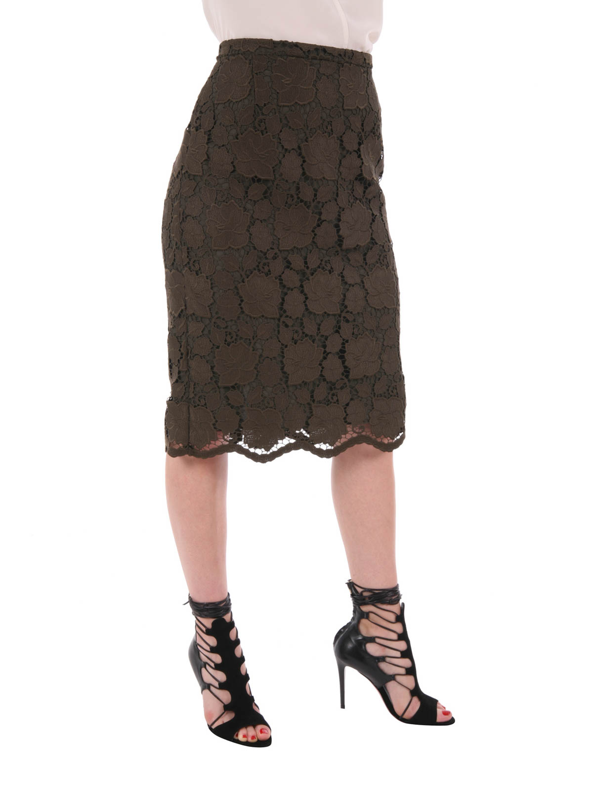 Free Shipping Geniue Stockist Classic Online Lace pencil skirt N°21 For Sale Official Site Comfortable VbQdNUmij