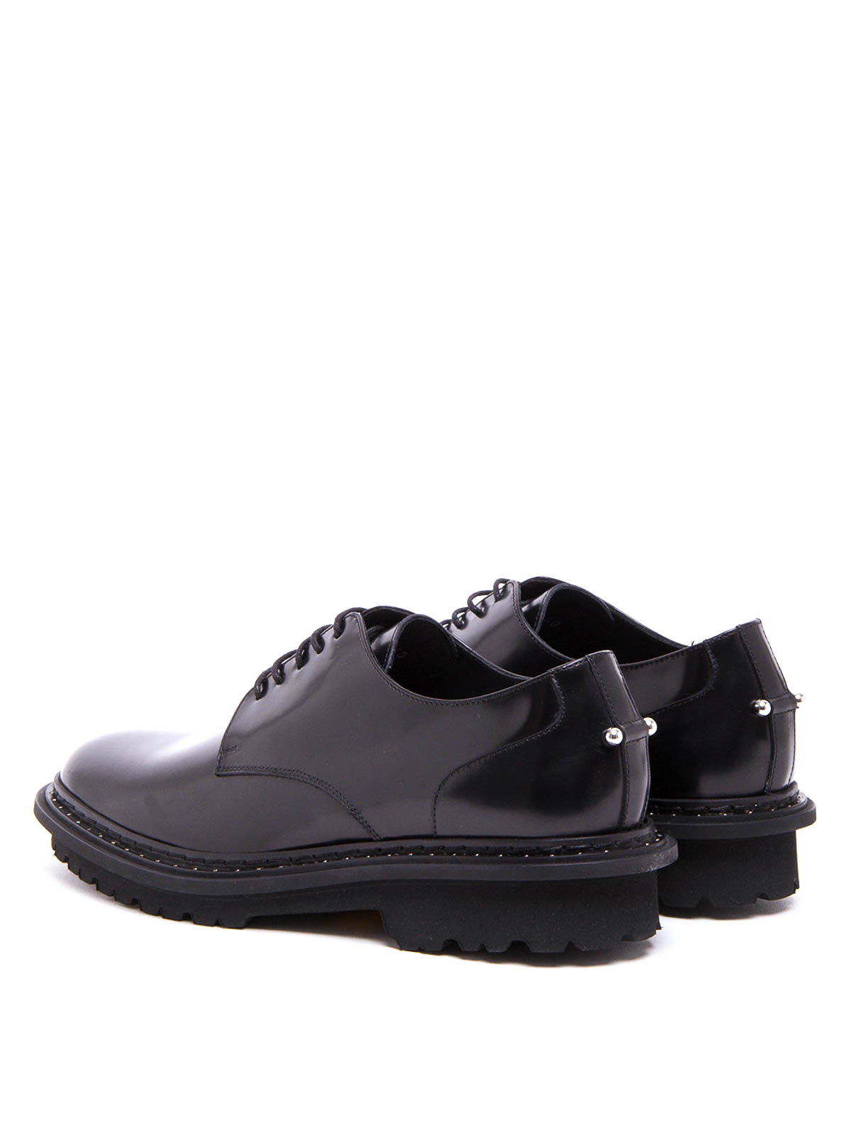 separation shoes 83963 97790 Neil Barrett - Derby con piercing in pelle lucida - scarpe ...