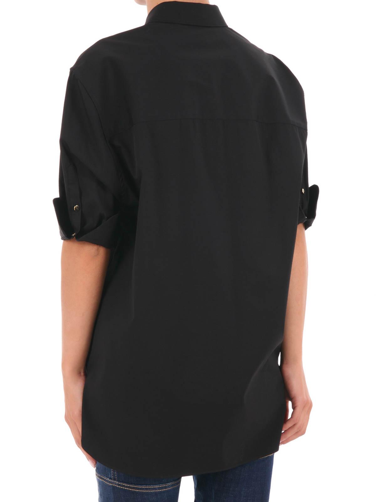 281ea2aff7aff Neil Barrett - Camisa Negra Para Mujer - Camisas - PNCM156 01 ...