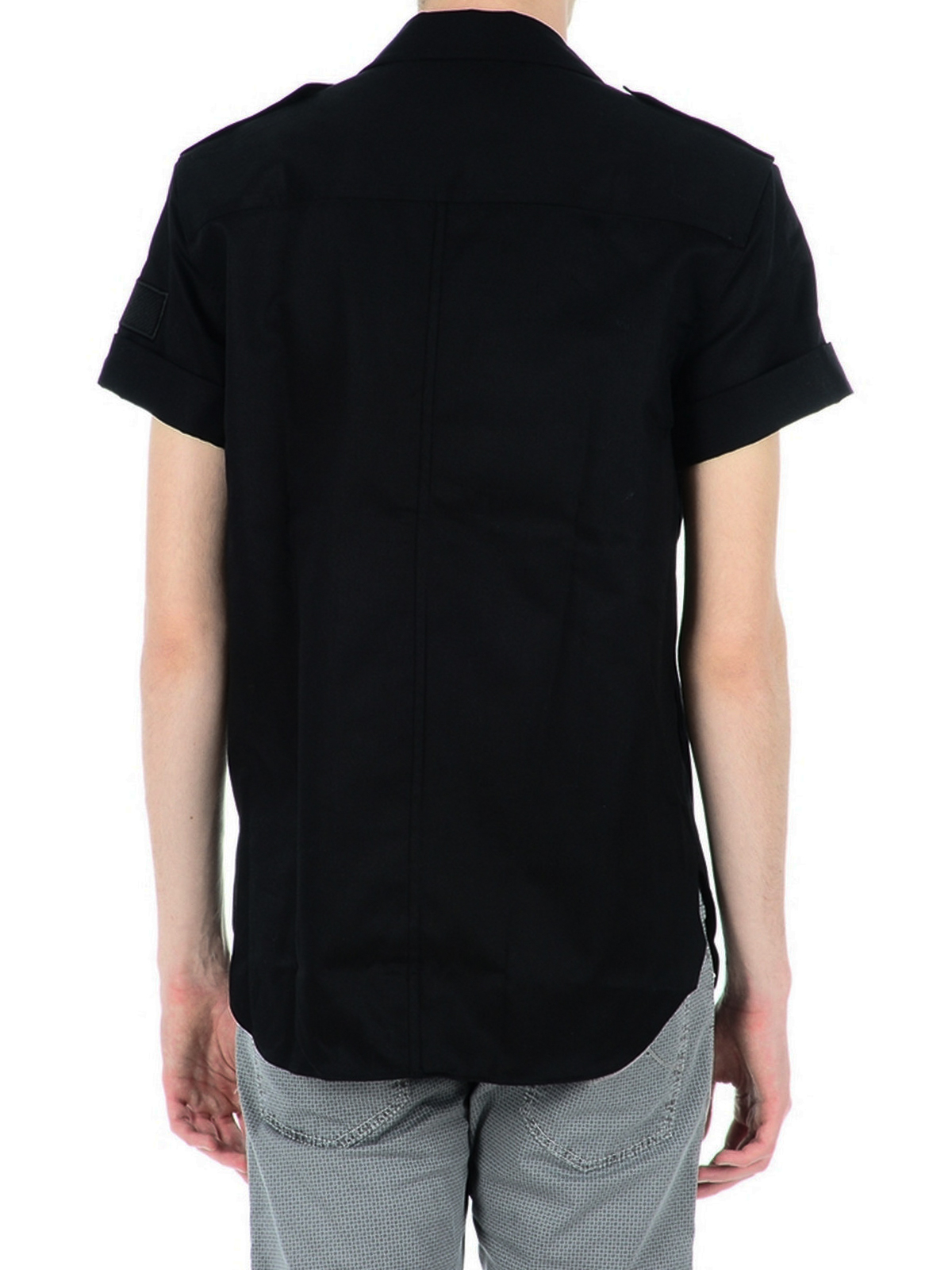 2f97fd97354bb Neil Barrett - Camisa Negra Para Hombre - Camisas - BCM679E08001