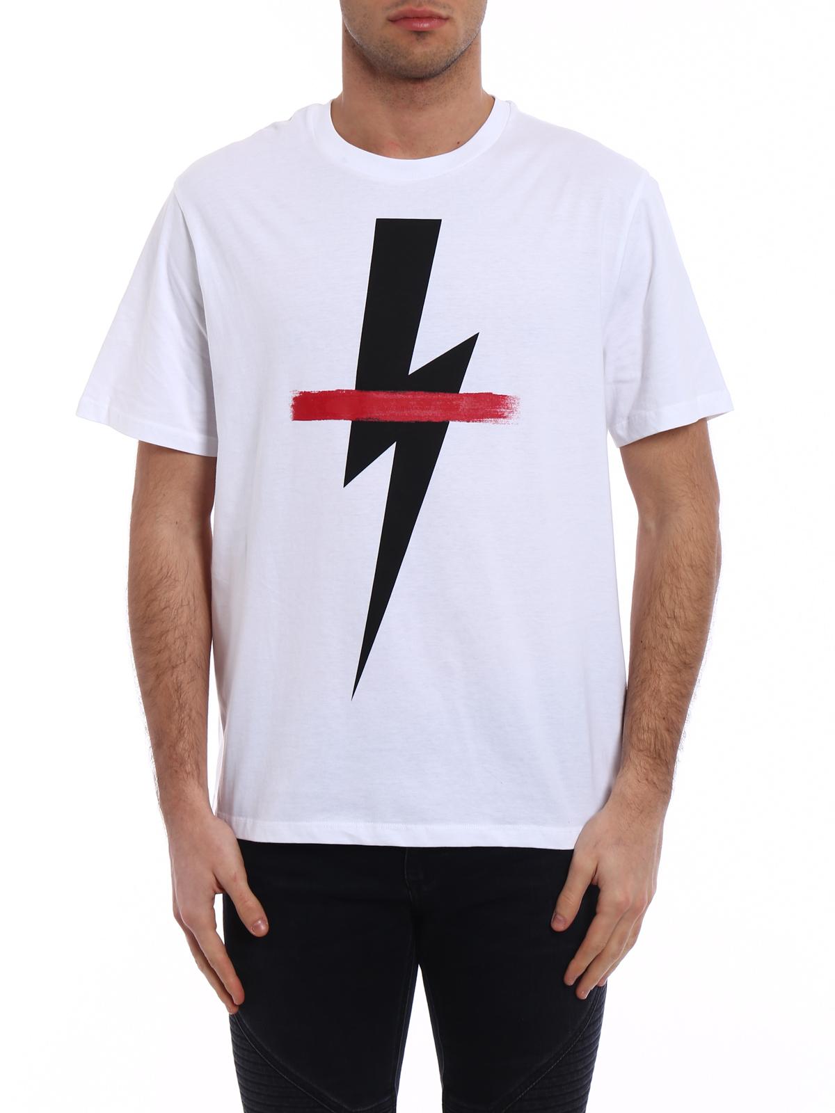 Jersey THUNDERBOLT T-shirt Spring/summer Neil Barrett nv3kTQp7h