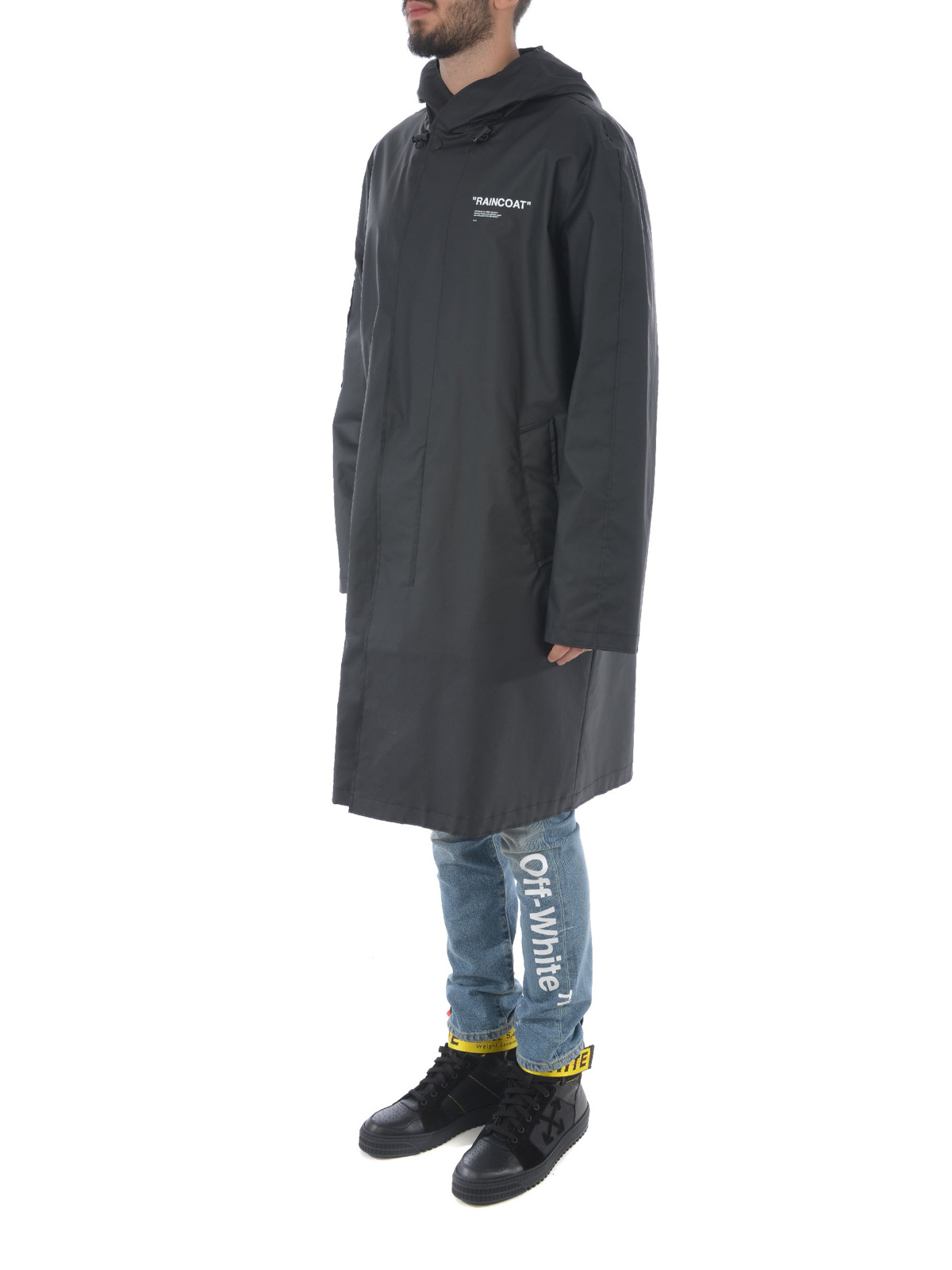 6d0e9b8937df Off-White - Quote raincoat - knee length coats - OMEA137E18A250101001