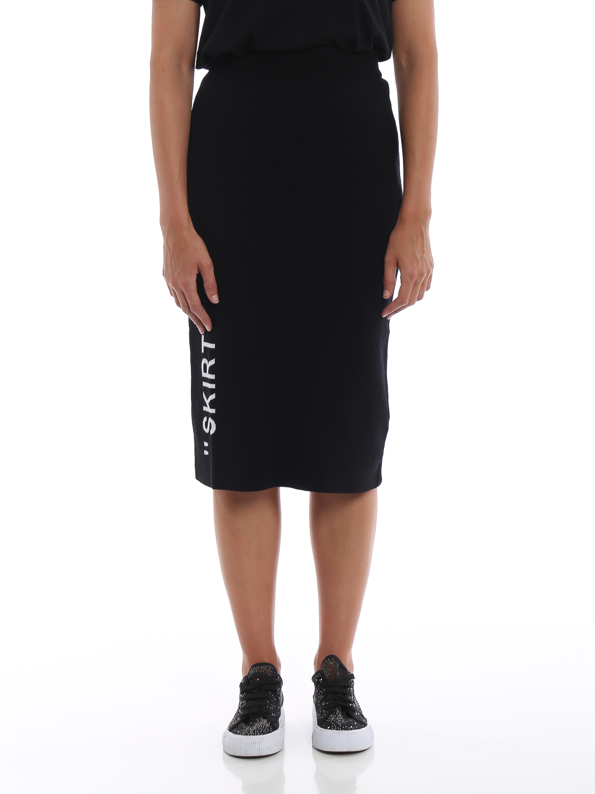 0a780bcb3f7 iKRIX OFF-WHITE  Knee length skirts   Midi - SKIRT intarsia knitted pencil  skirt