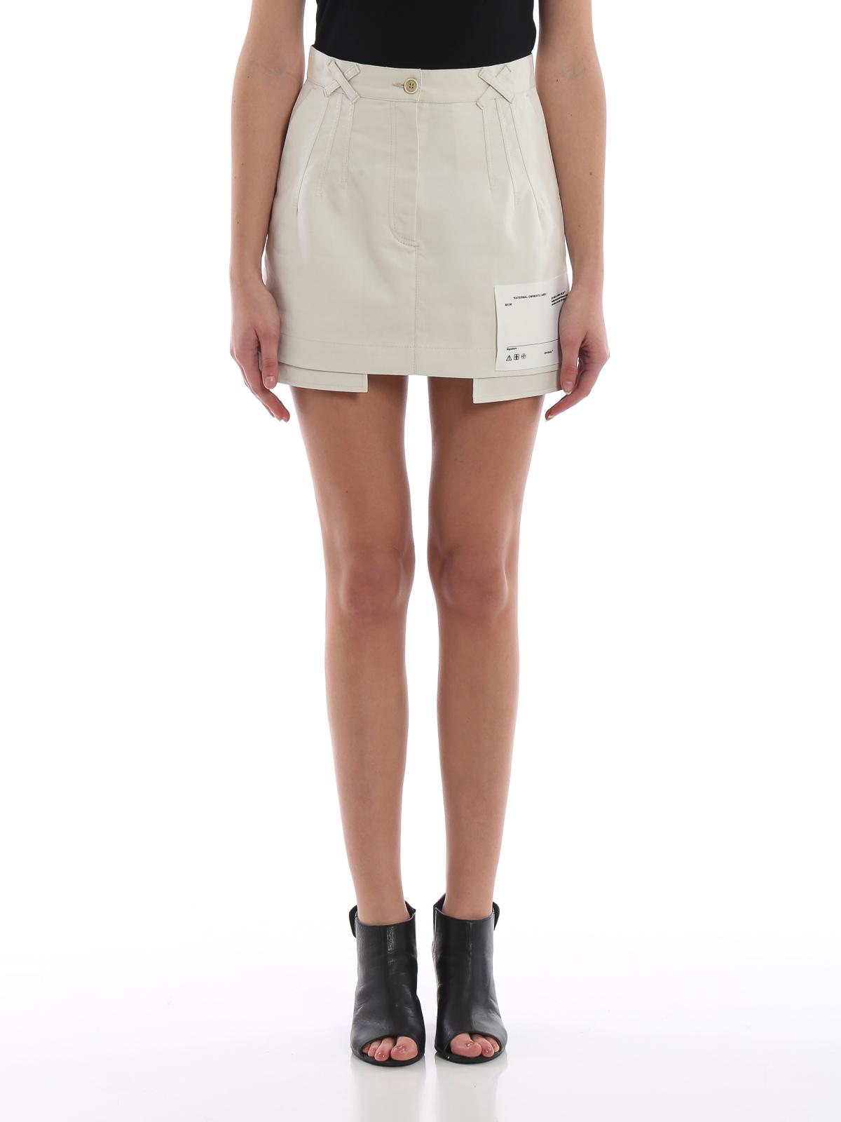 3249b8c16 iKRIX OFF-WHITE: mini skirts - Cotton pockets out mini skirt