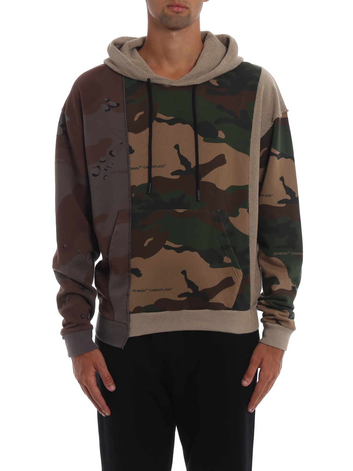 Off White Reconstructed Camo Hoodie Sweatshirts Sweaters