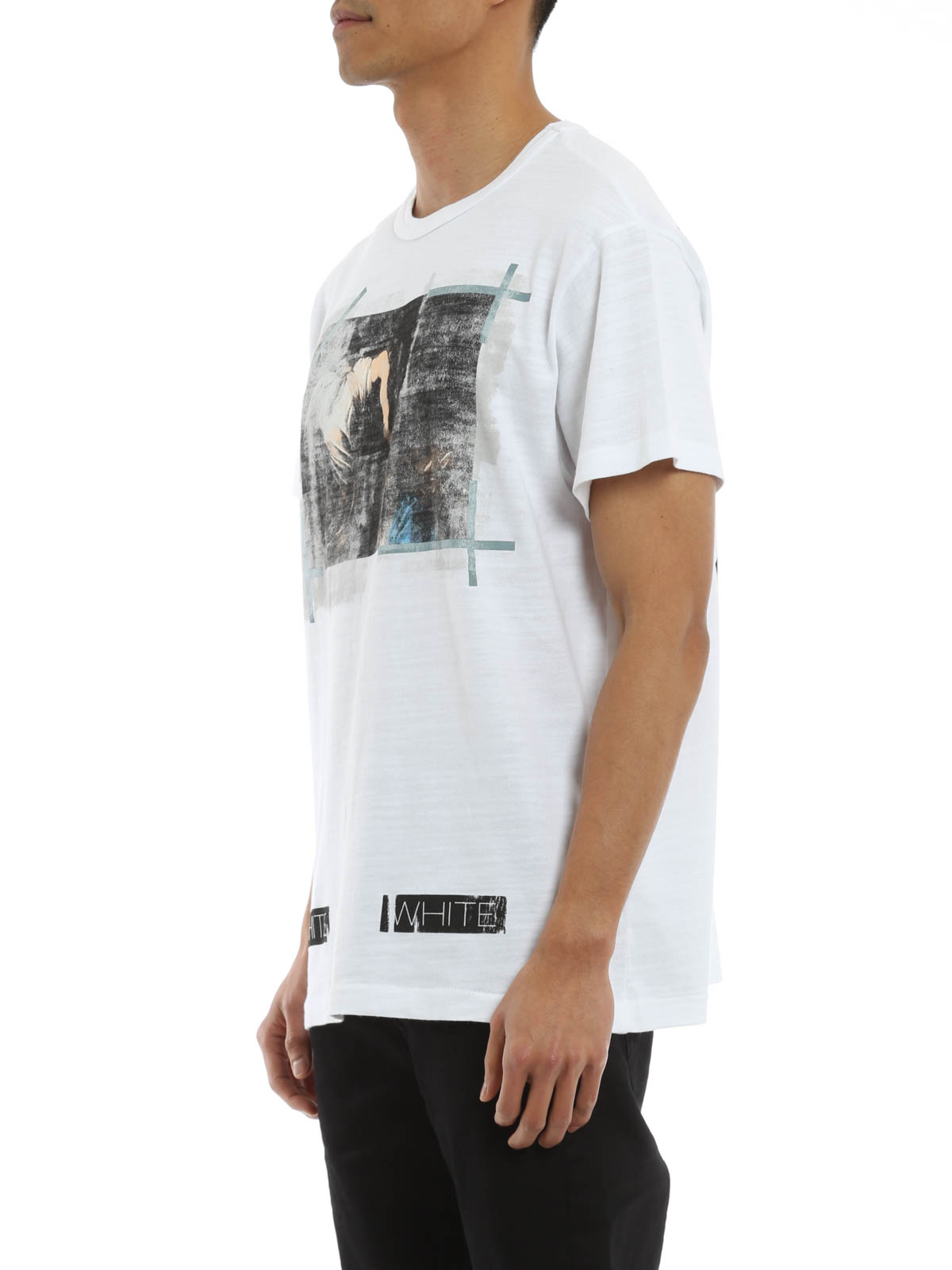 off white t shirt caravaggio t shirt omaa002s160010070188 white. Black Bedroom Furniture Sets. Home Design Ideas