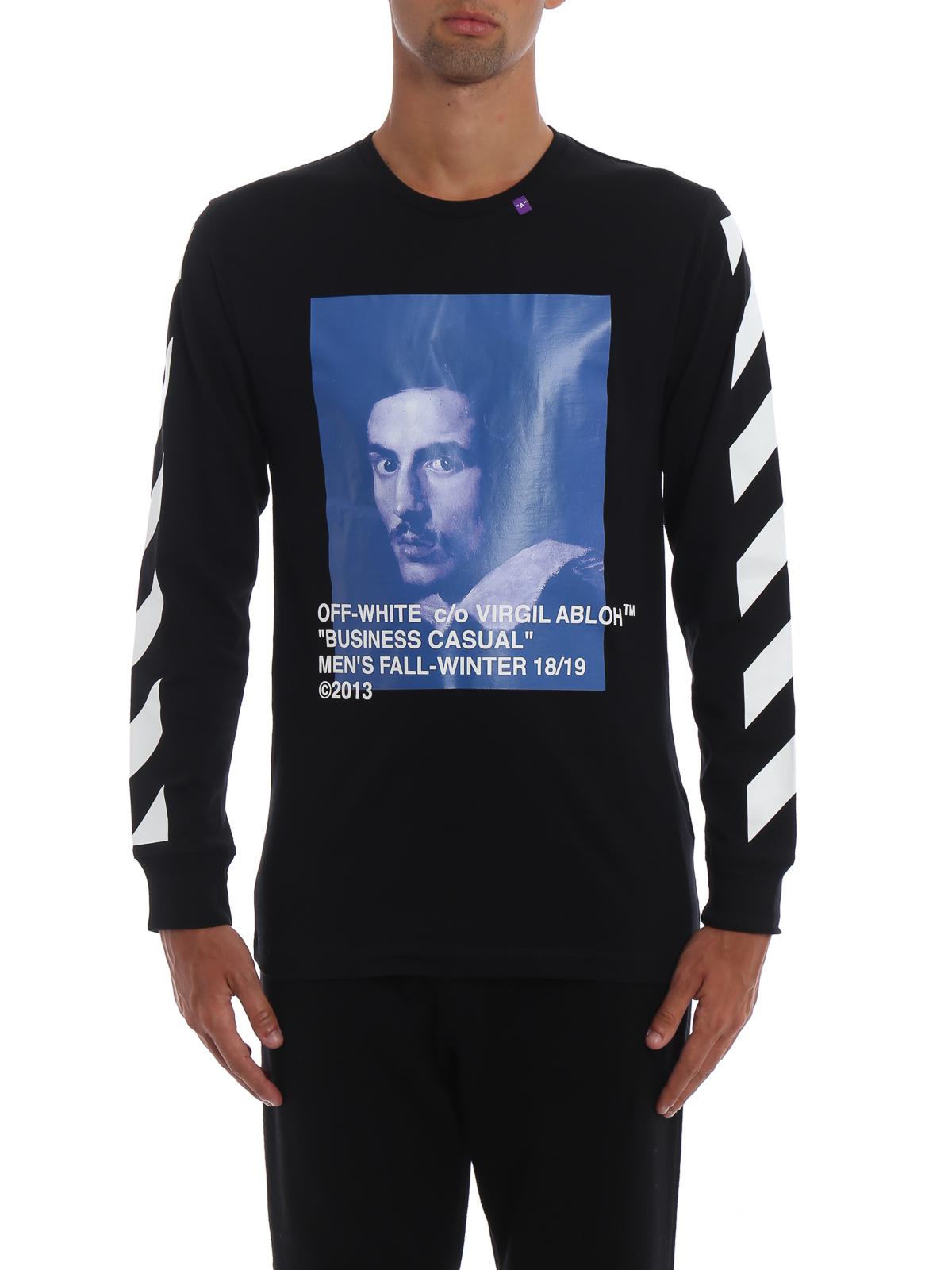 Diag Bernini long sleeve T-shirt
