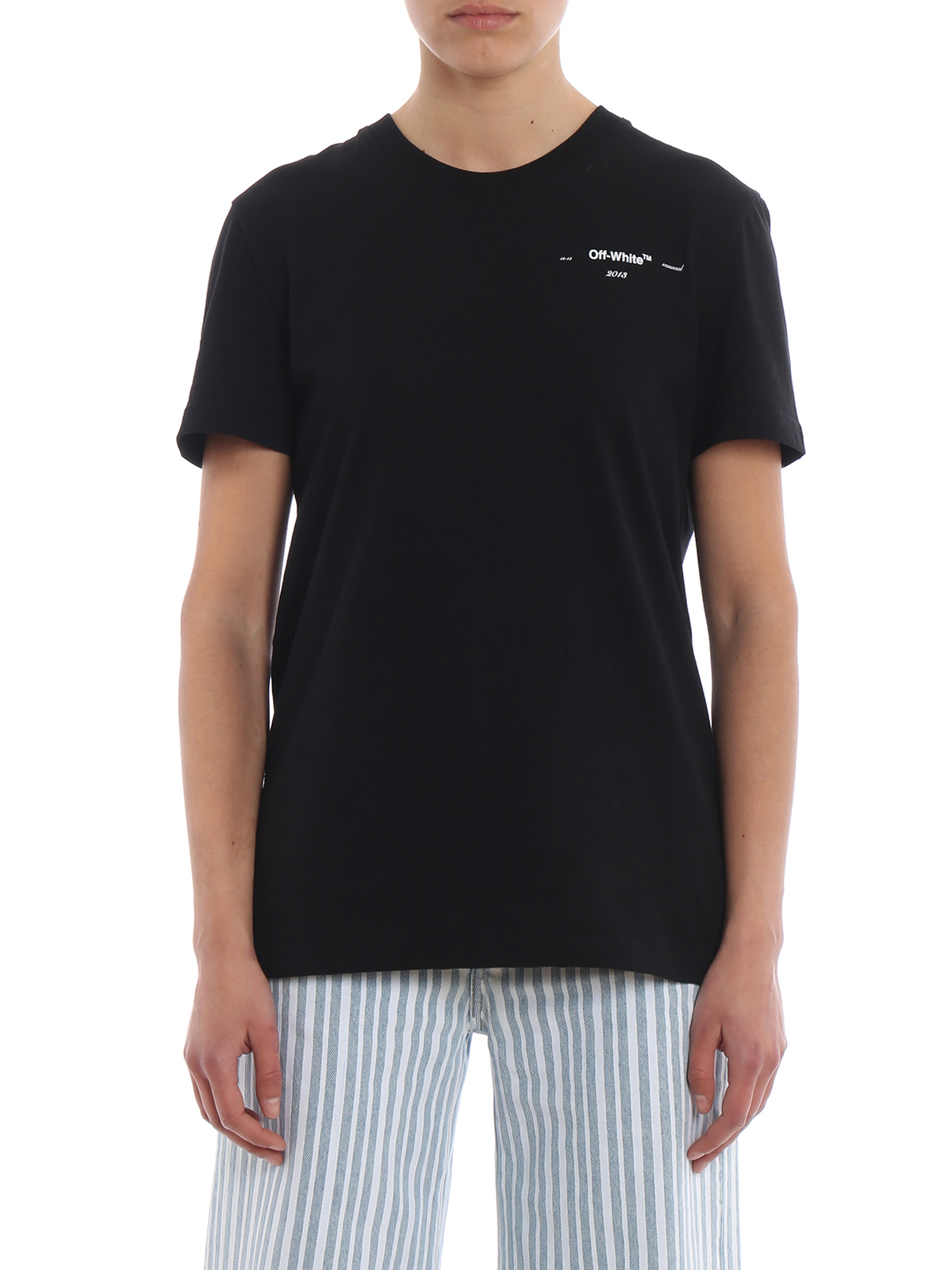 off white t shirt schwarz t shirts owaa049r19b070441010. Black Bedroom Furniture Sets. Home Design Ideas