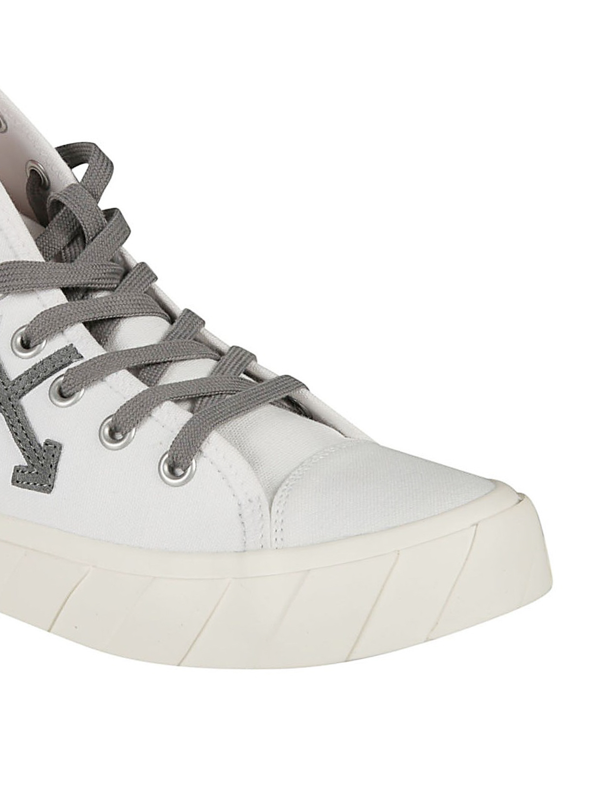 White and light grey canvas mid top