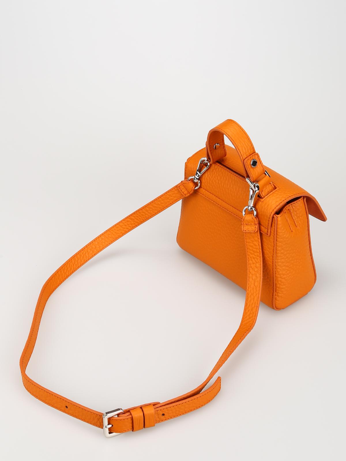 MOSCHINO Borsa a mano Arancione Pelle Donna Borse