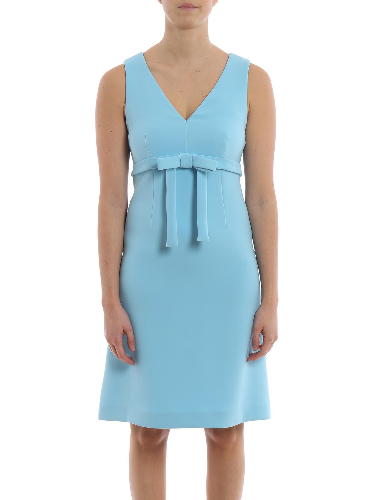 P.A.R.O.S.H. - Knielanges Kleid - Hellblau - Knielange Kleider