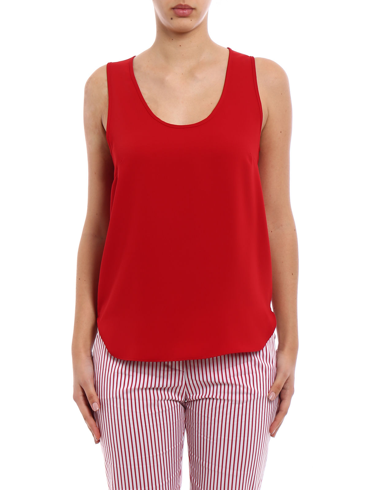 round neck tank top - Red P.A.R.O.S.H. Discount Choice MC1fe3520t