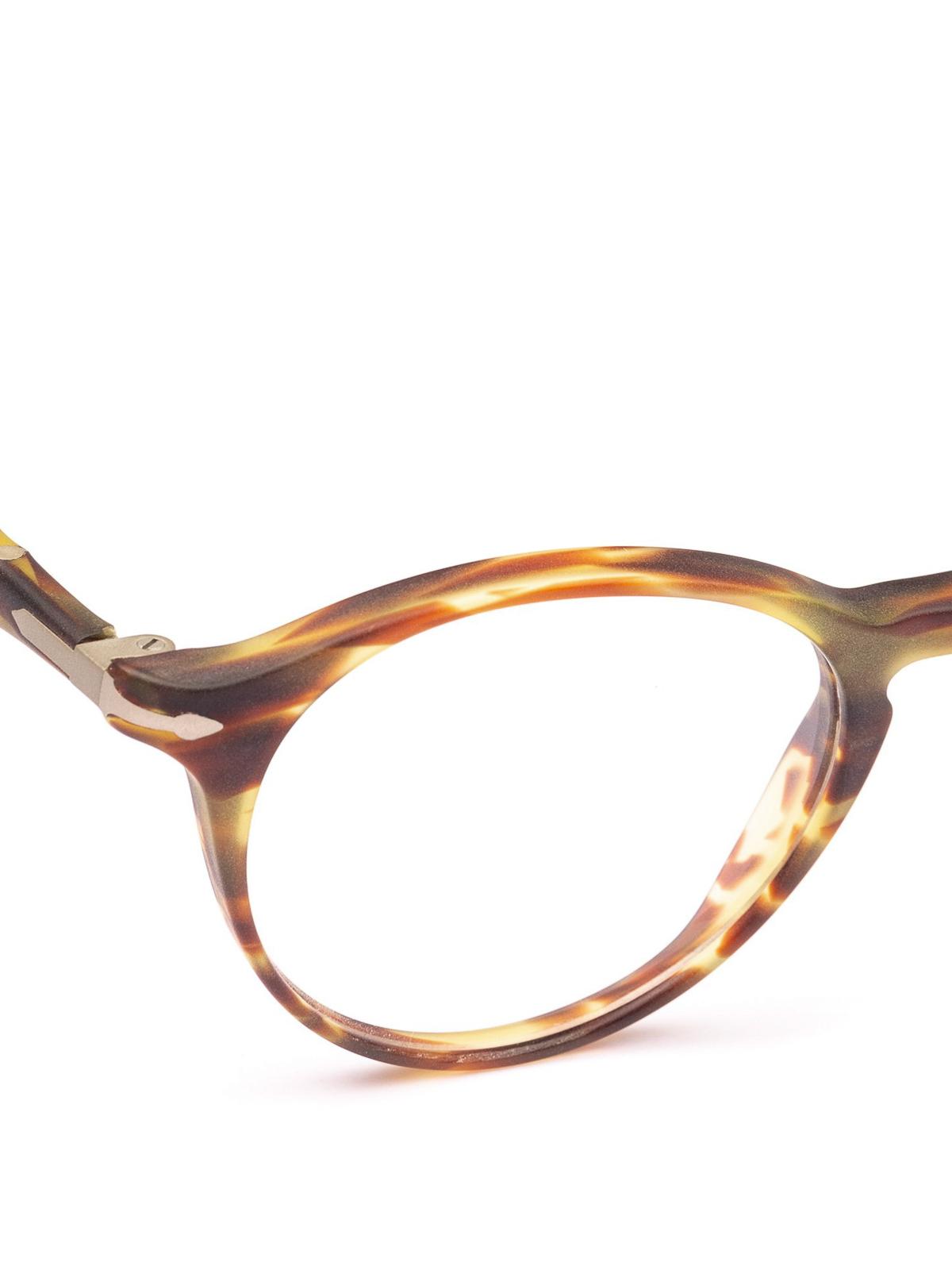 f31fcebc2ae39 Persol - Token striped green and brown eyeglasses - glasses - PO ...